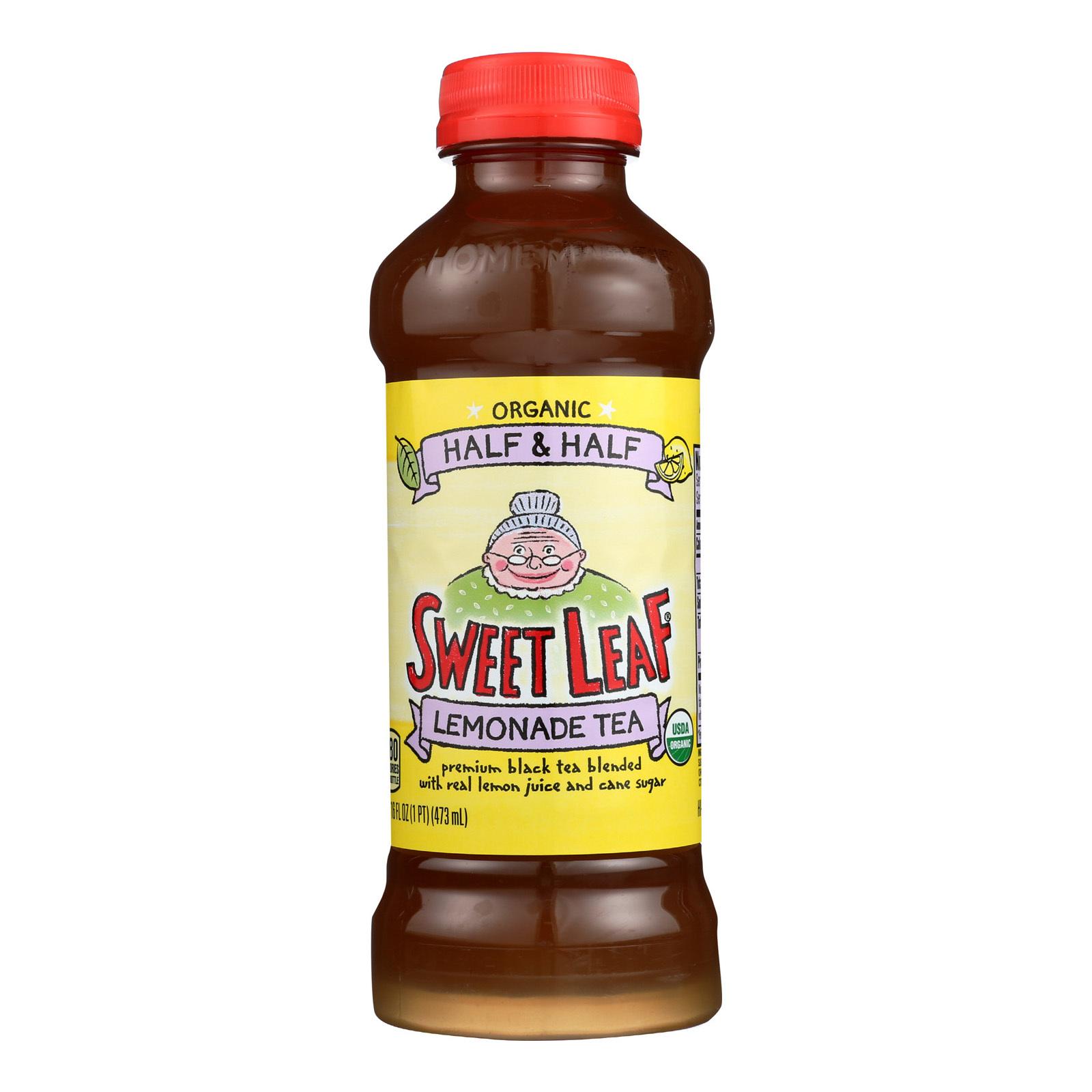 Sweet Leaf Tea Premium Iced Black Tea - Half and Half - Case of 12 - 16 Fl oz.