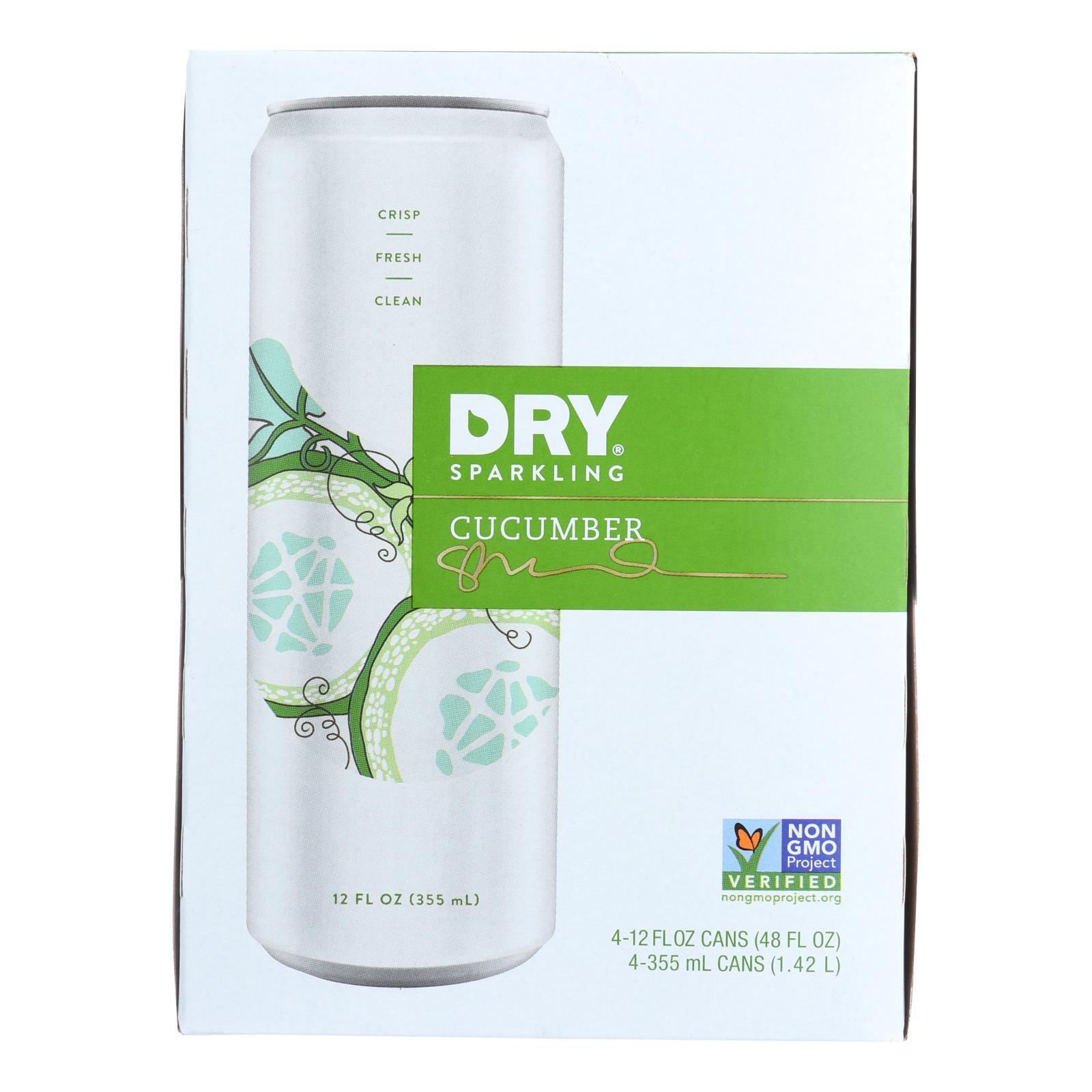 Dry Soda - Cucumber - Case of 6 - 12 FL oz.
