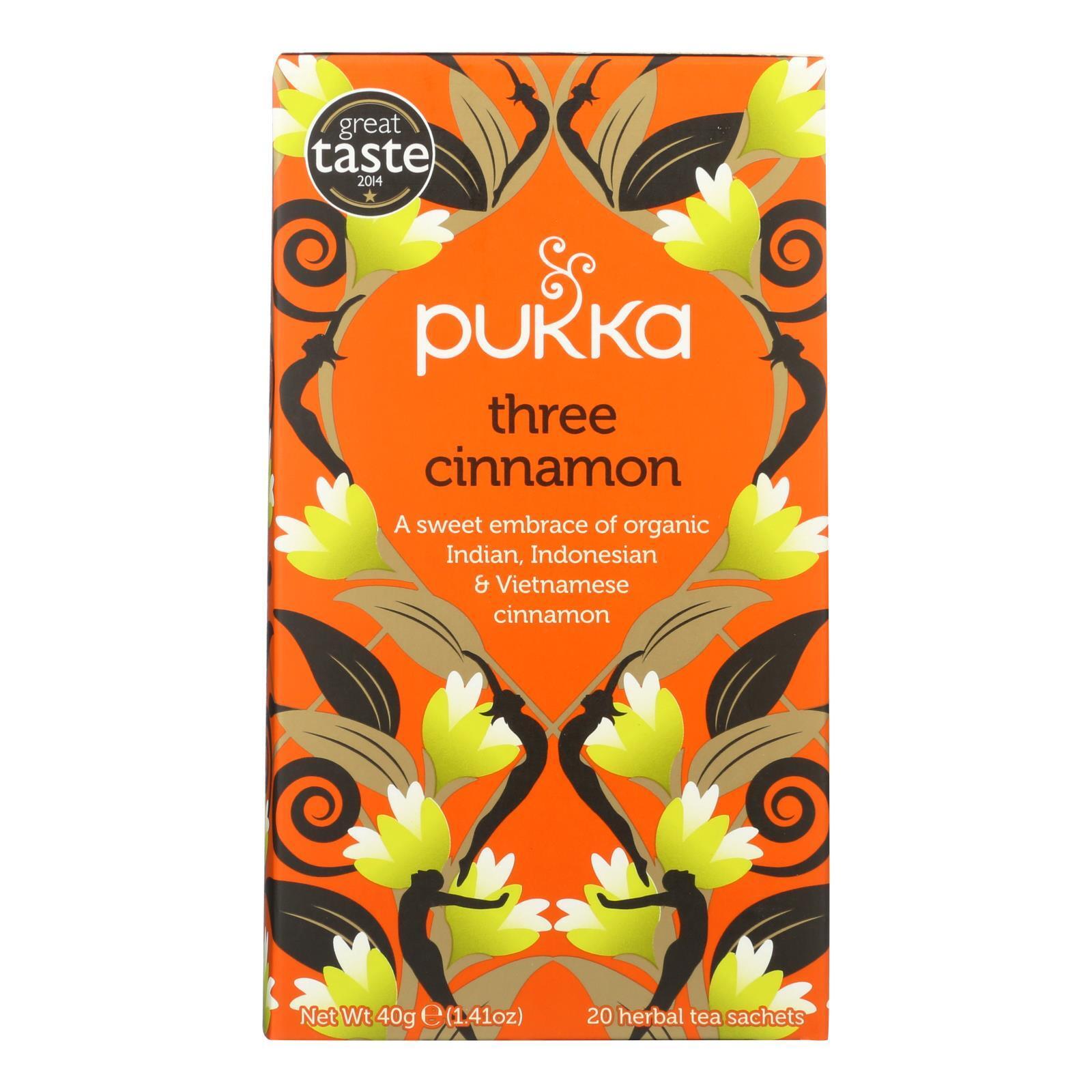 Pukka Herbal Teas Tea - Organic - Three Cinnamon - 20 Bags - Case of 6