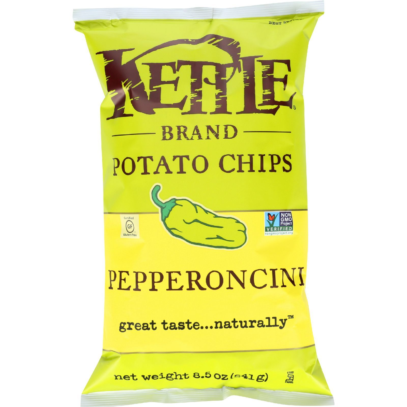 Kettle Brand Potato Chips - Pepperoncini - 8.5 oz - case of 12