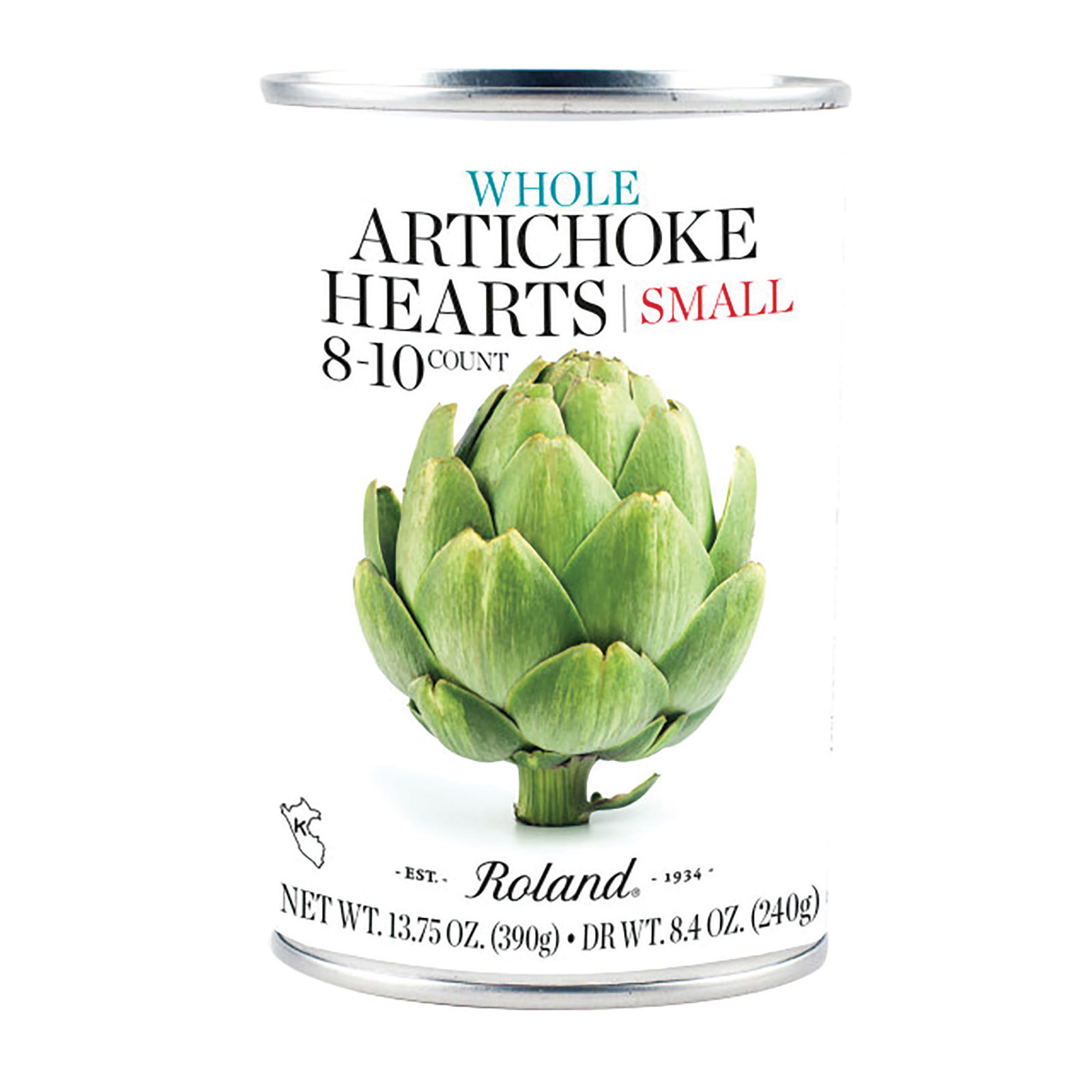 Roland Products Artichoke Hearts - 10 Count - Case of 12 - 13.75 oz