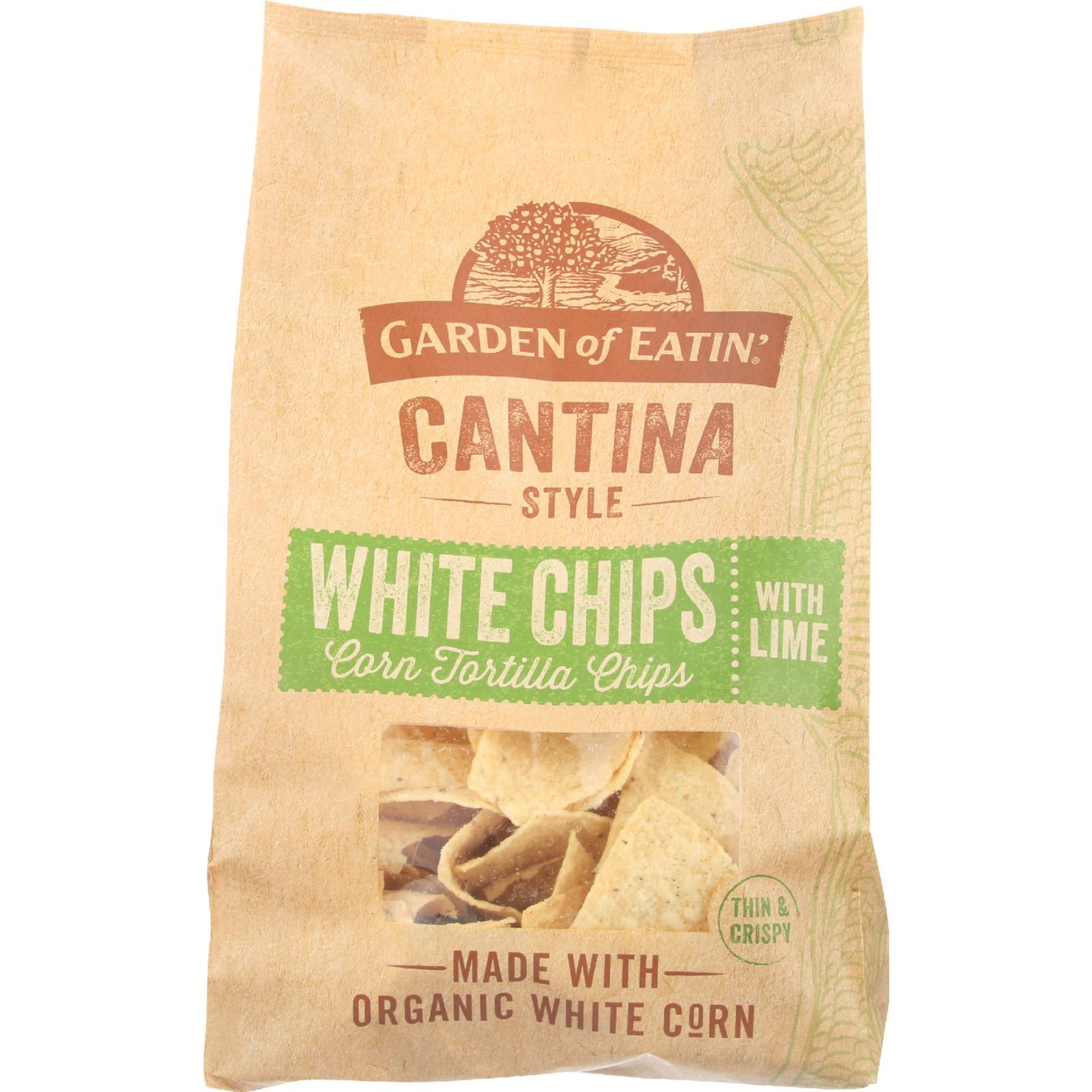Garden Of Eatin Tortilla Chips - Organic - Cantina Style - White Corn - with Lime - 13 oz - case of 10