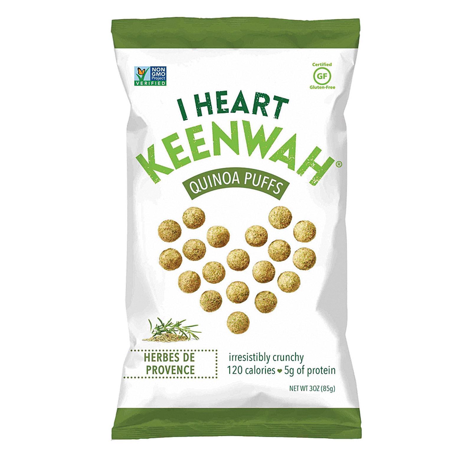 I Heart Keenwah Quinoa Puffs - Herbes De Provence - Case of 12 - 3 oz.