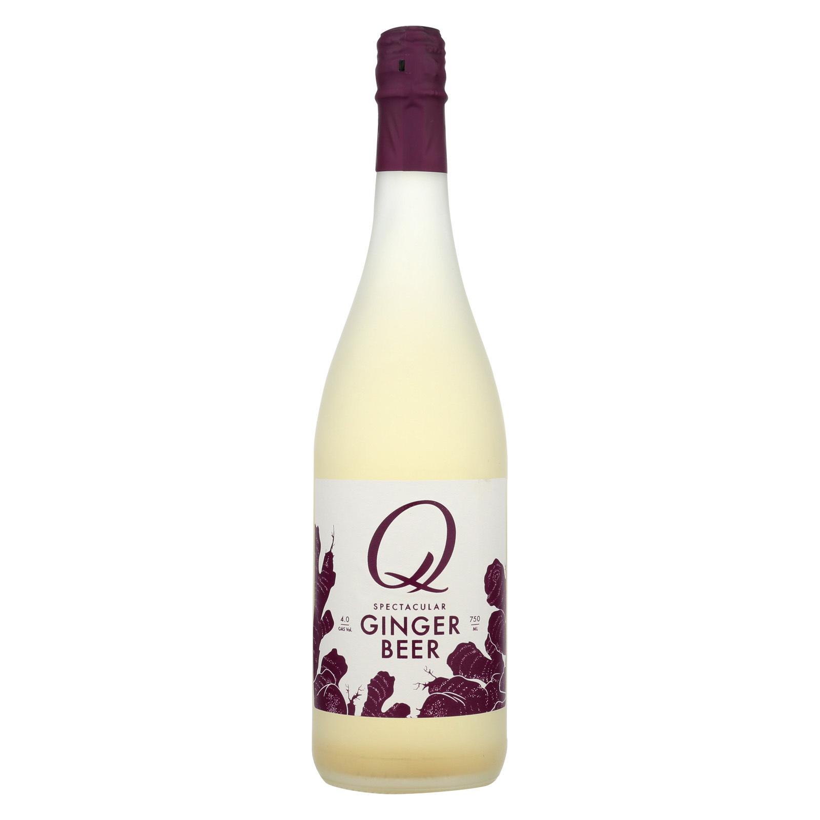 Q Drinks Q Ginger Beer - Glass - Case of 12 - 25.4 oz.