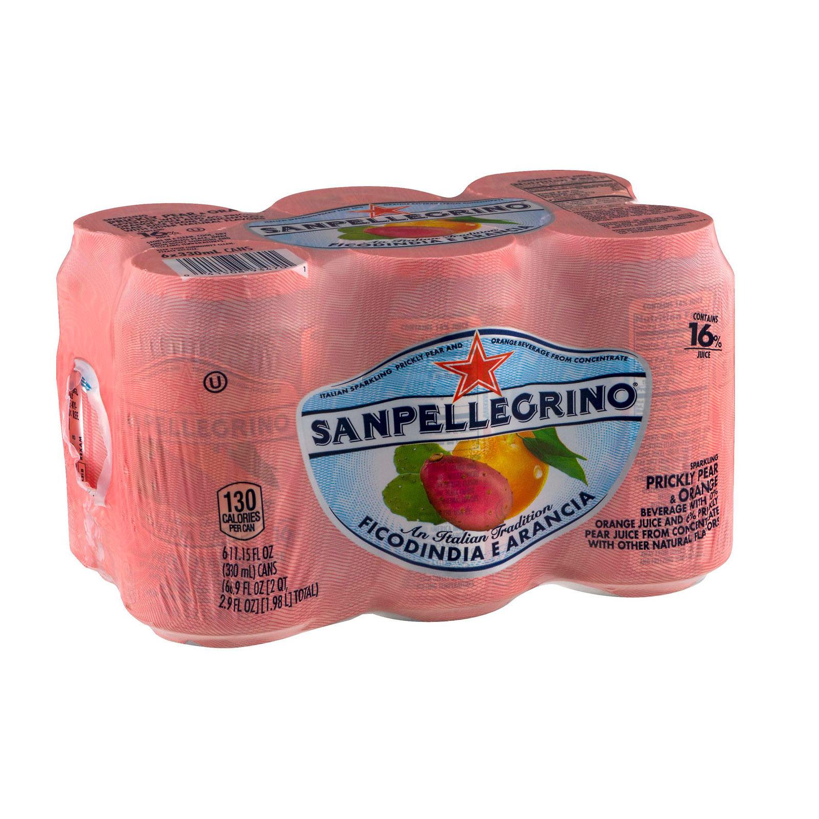 San Pellegrino Sparkling Water - Pear and Orange - Case of 4 - 11.5 Fl oz.