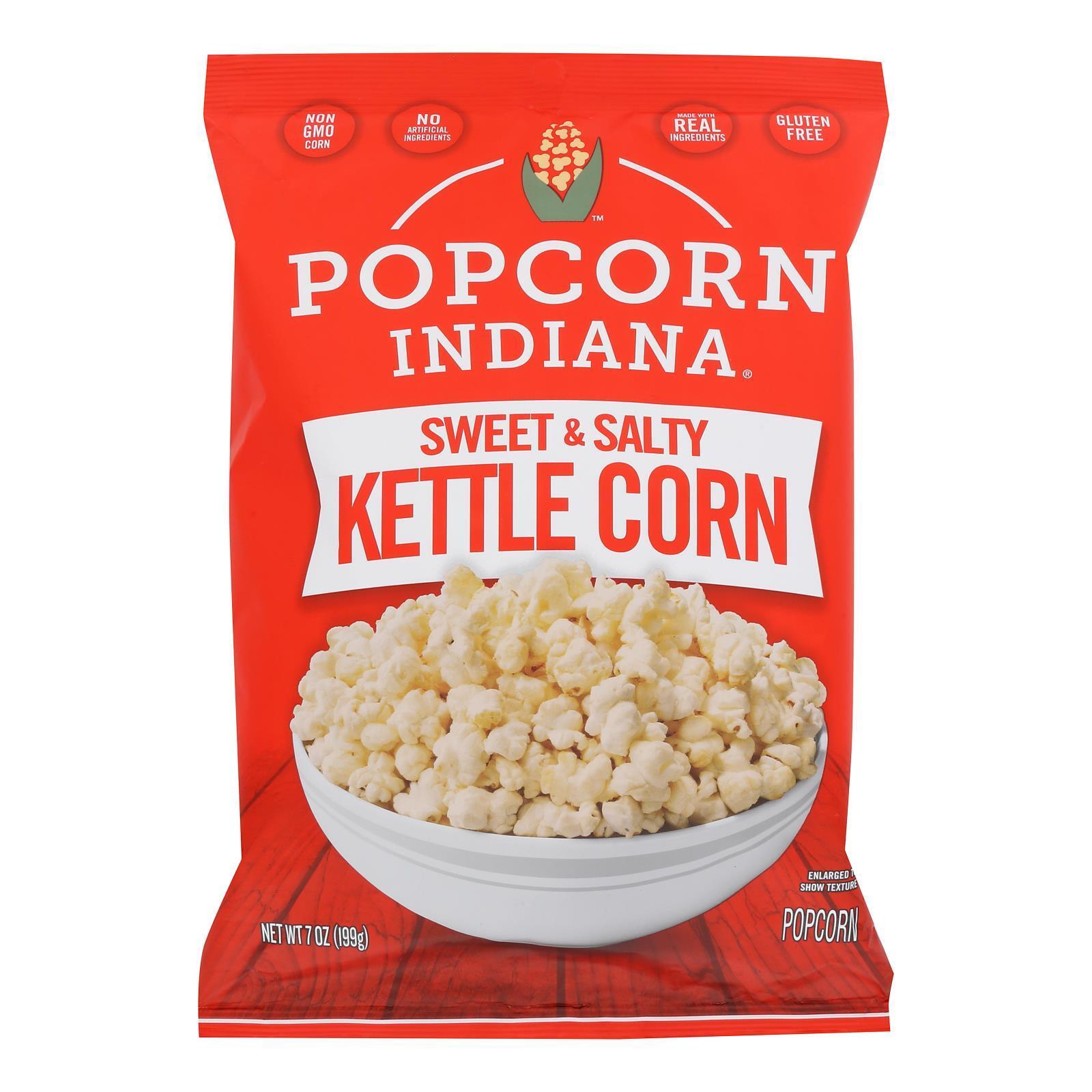 Popcorn Indiana Popcorn - Original Kettlecorn - Case of 12 - 7 oz.