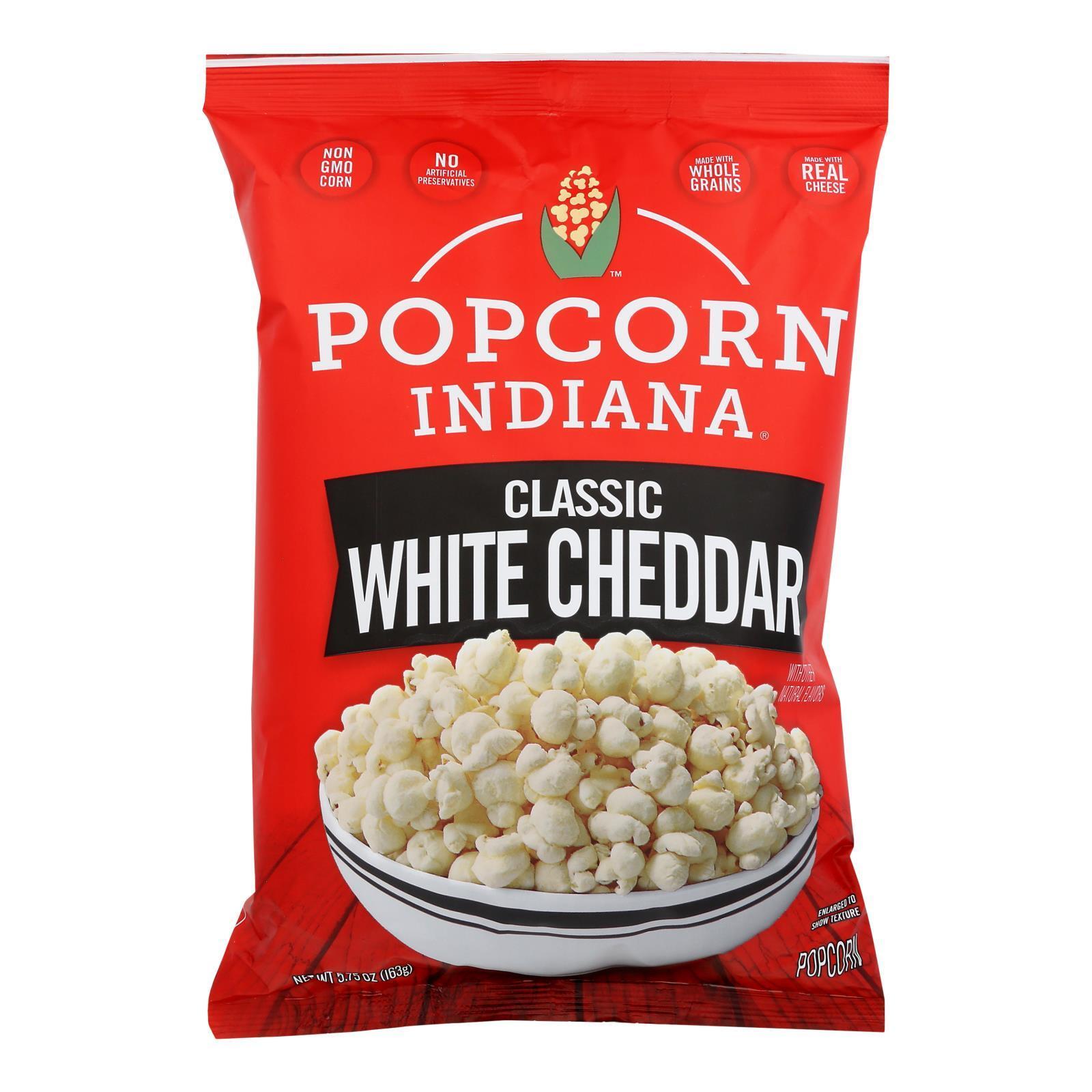 Popcorn Indiana Popcorn - Aged White Cheddar - Case of 12 - 5.75 oz.