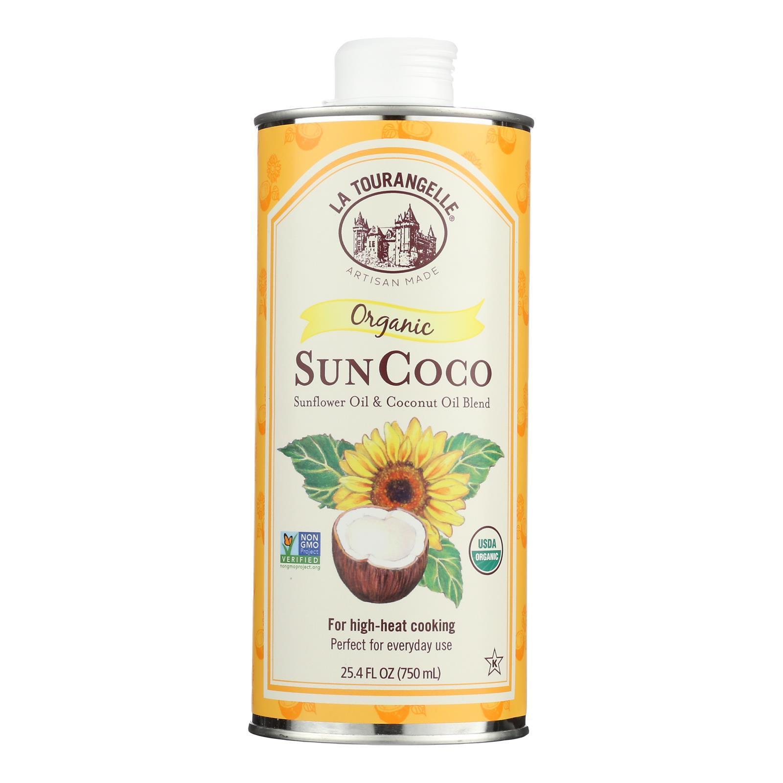 La Tourangelle Sun Coco Oil - Case of 6 - 25.4 Fl oz.