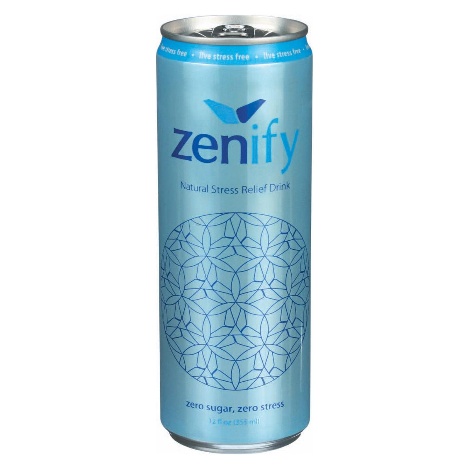 Zenify Stress Relief - Zero Sugar - Case of 12 - 12 Fl oz.
