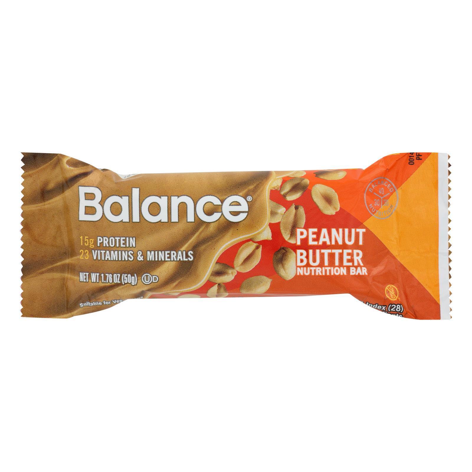 Balance Bar - Peanut Butter - 1.76 oz - Case of 6