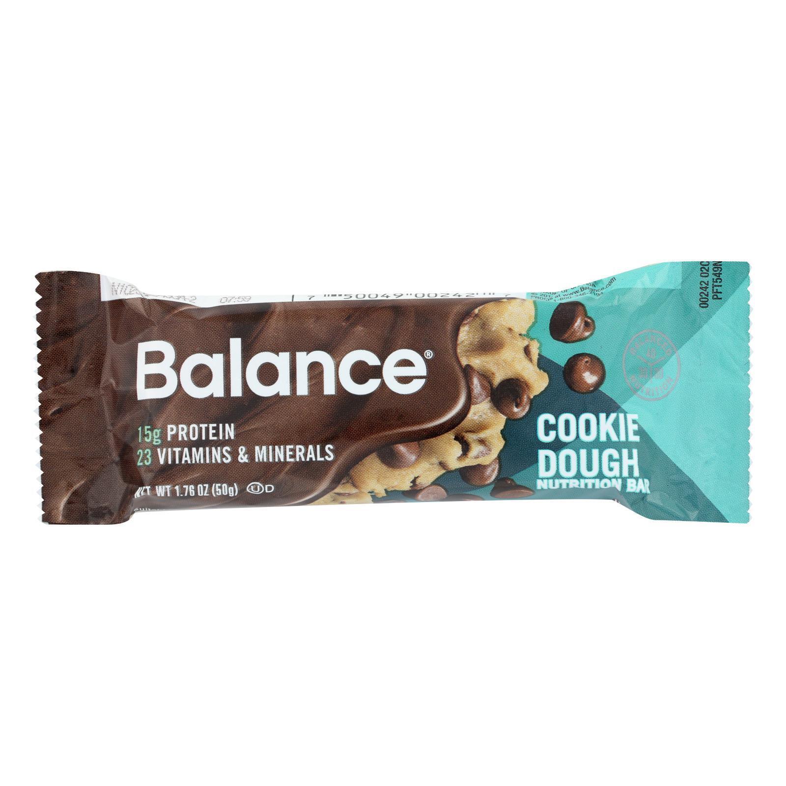 Balance Bar - Cookie Dough - 1.76 oz - Case of 6