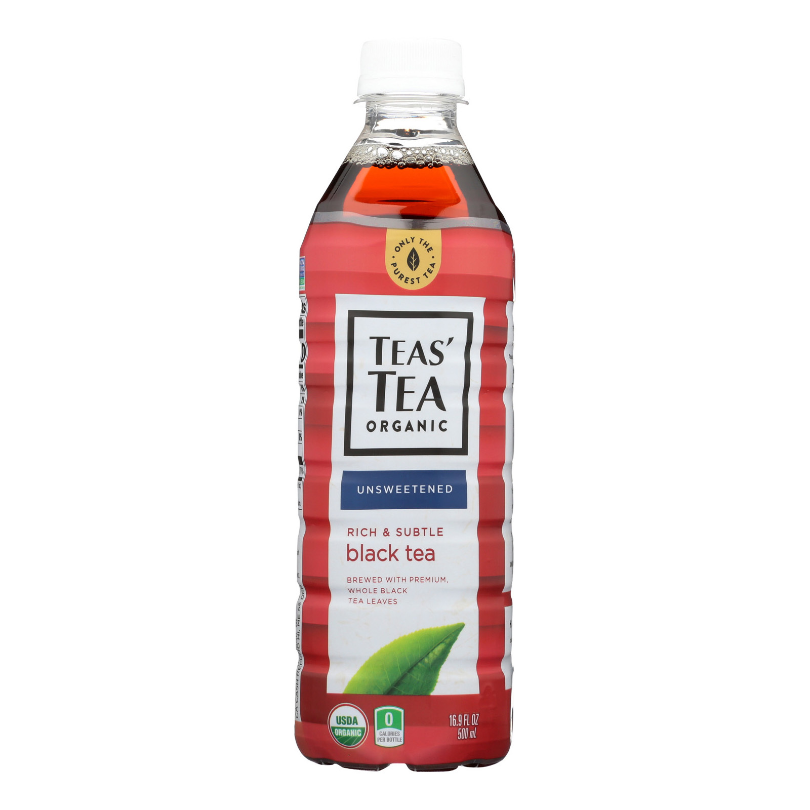 Tea's Organic Black Tea - Unsweetened - Case of 12 - 16.9 Fl oz.