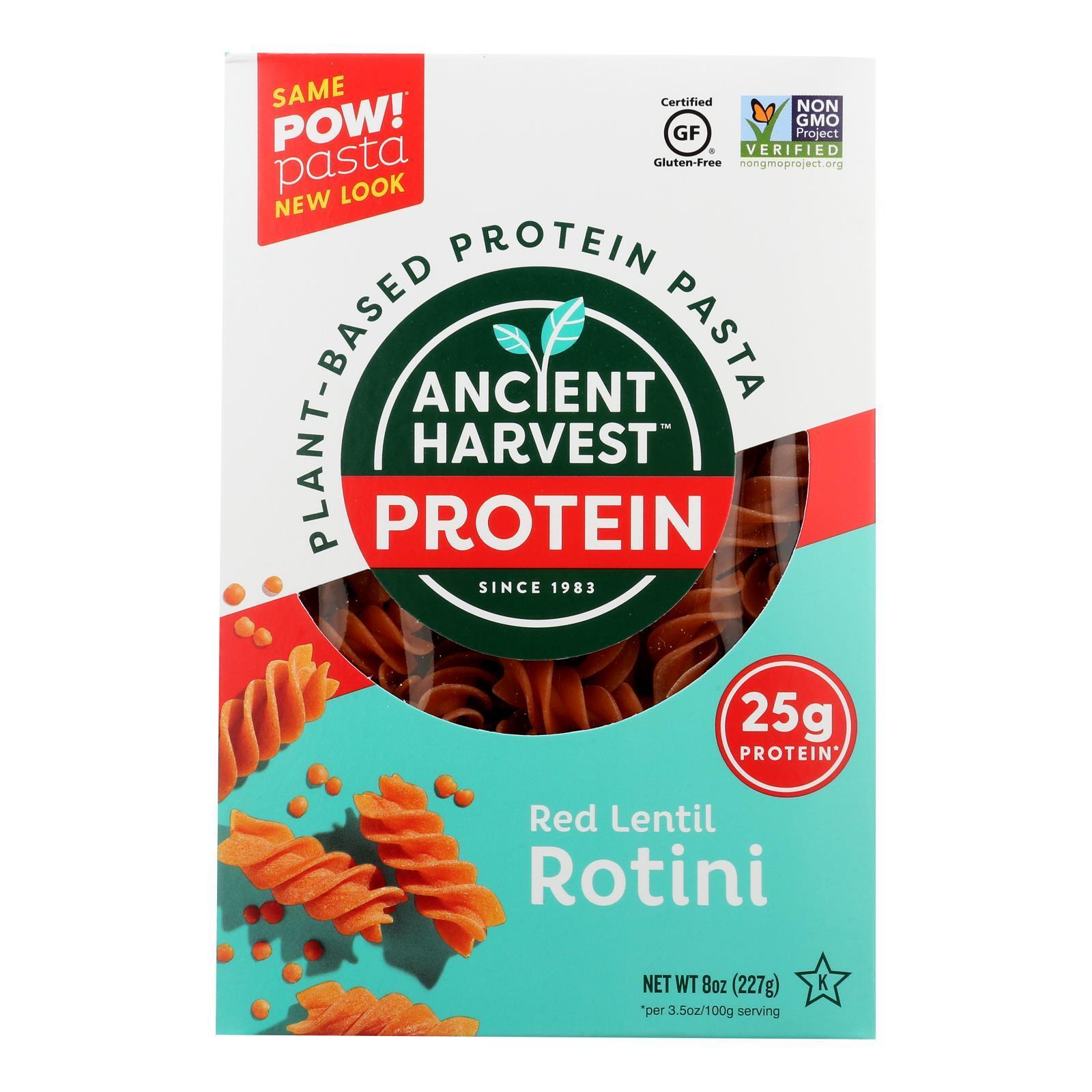 Ancient Harvest Pasta - Supergrain - Red Lentil and Quinoa Rotelle - Gluten Free - 8 oz - case of 6