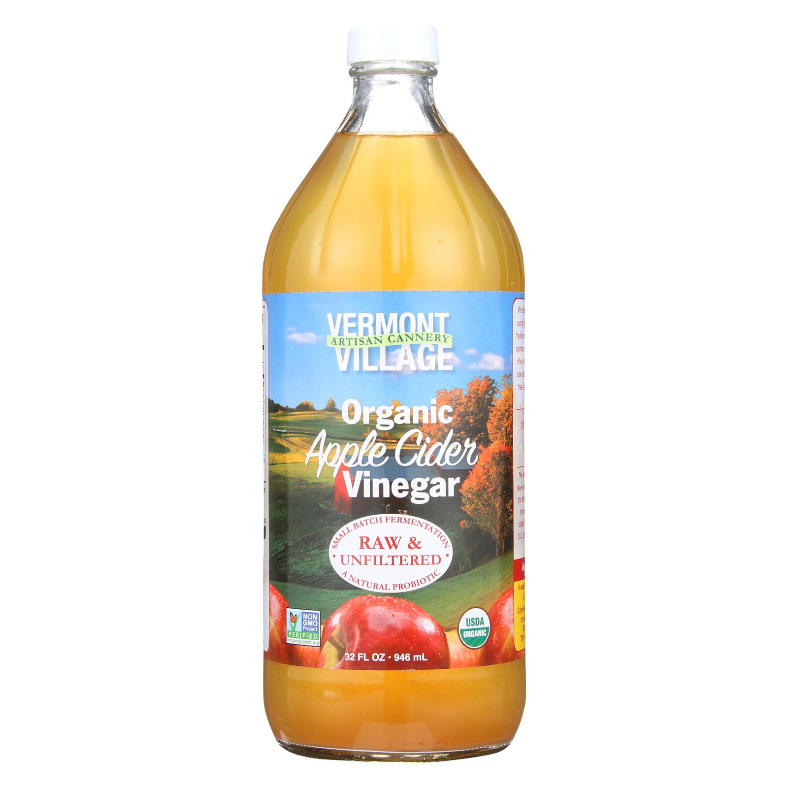 Vermont Village Organic Apple Cider Vinegar - Case of 6 - 32 Fl oz.