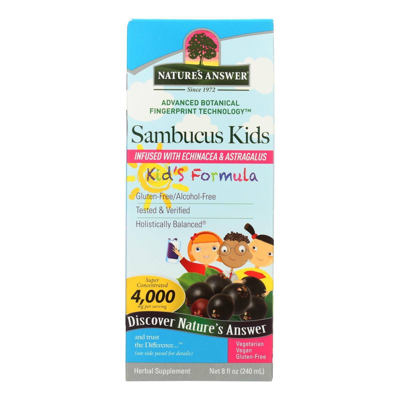 Natures Answer Sambucus - Kids Formula - Original Flavor - 8 oz