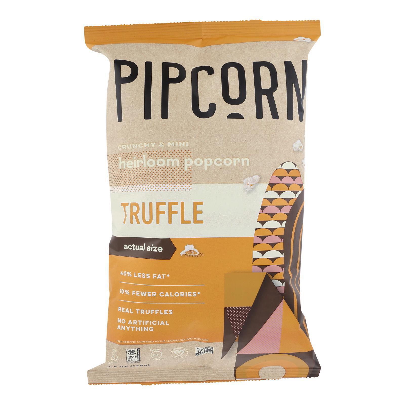 Pipcorn Mini Popcorn - Truffle - Case of 12 - 4 oz.