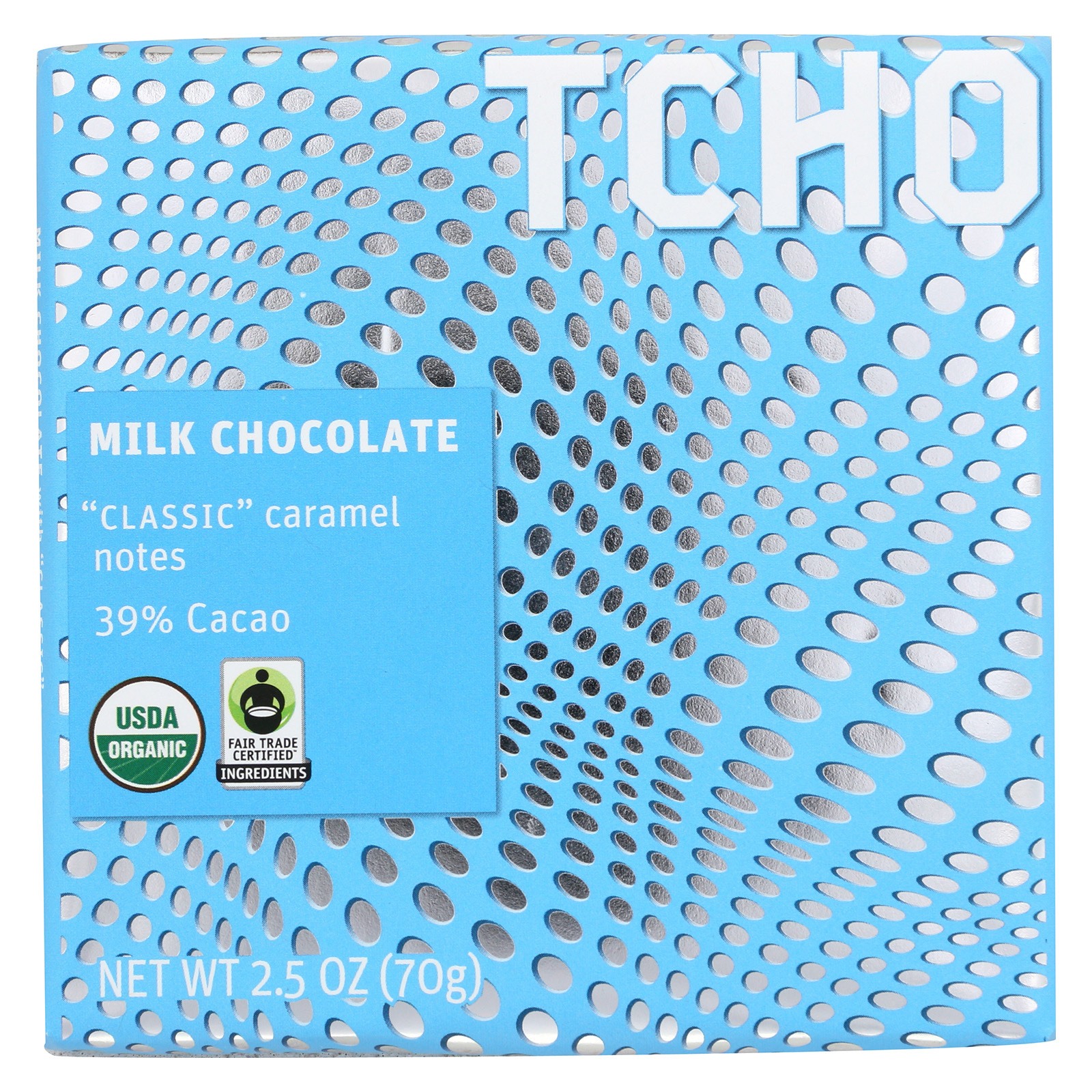 Tcho Chocolate Milk Chocolate Bar - Classic - Case of 12 - 2.5 oz.