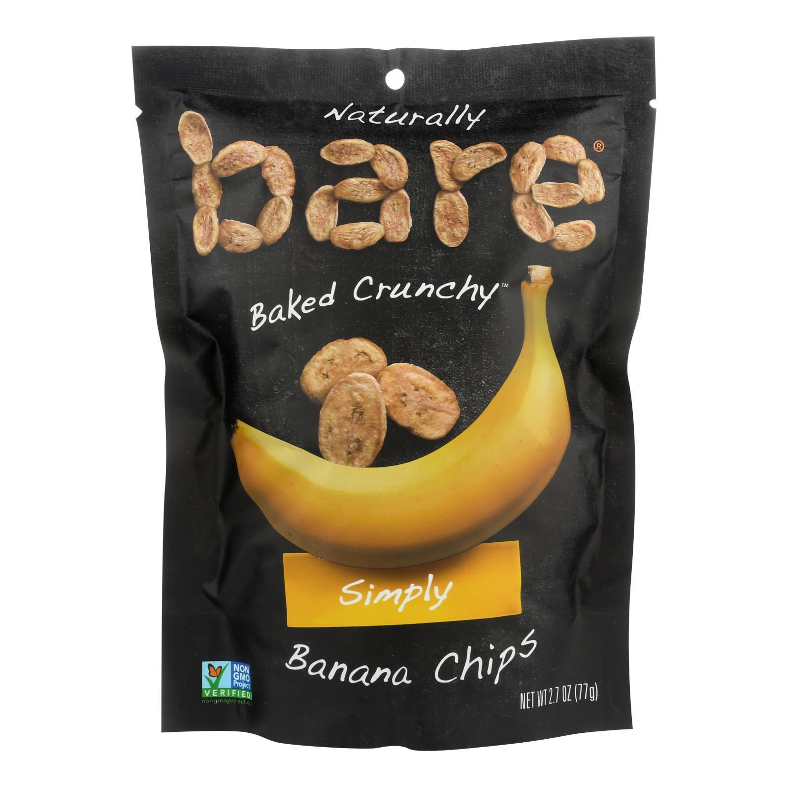 Bare Fruit Bare Fruit Bare Fruit Banana Chip - Case of 12 - 2.7 oz.