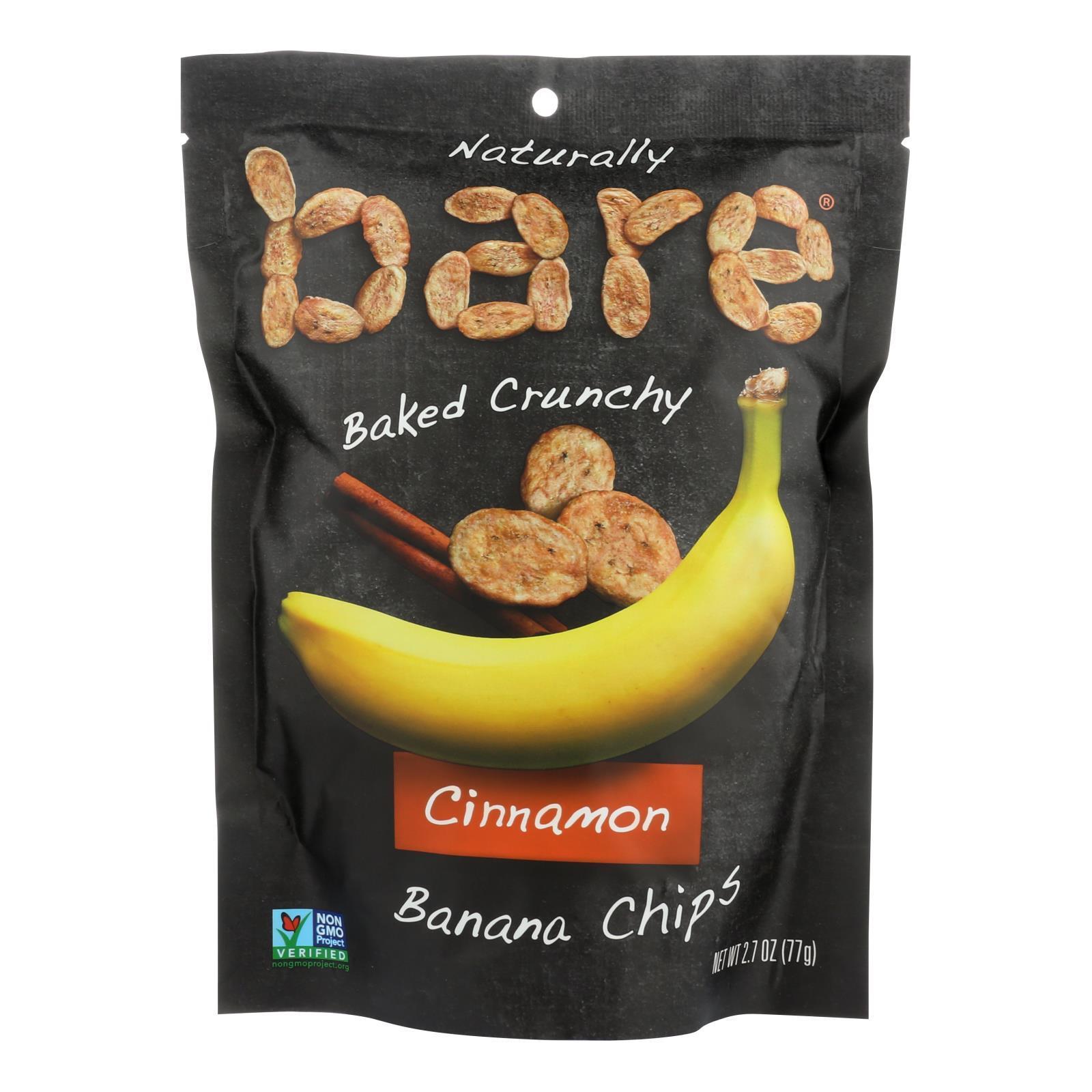 Bare Fruit Banana Chip - Cinnamon - Case of 12 - 2.7 oz.
