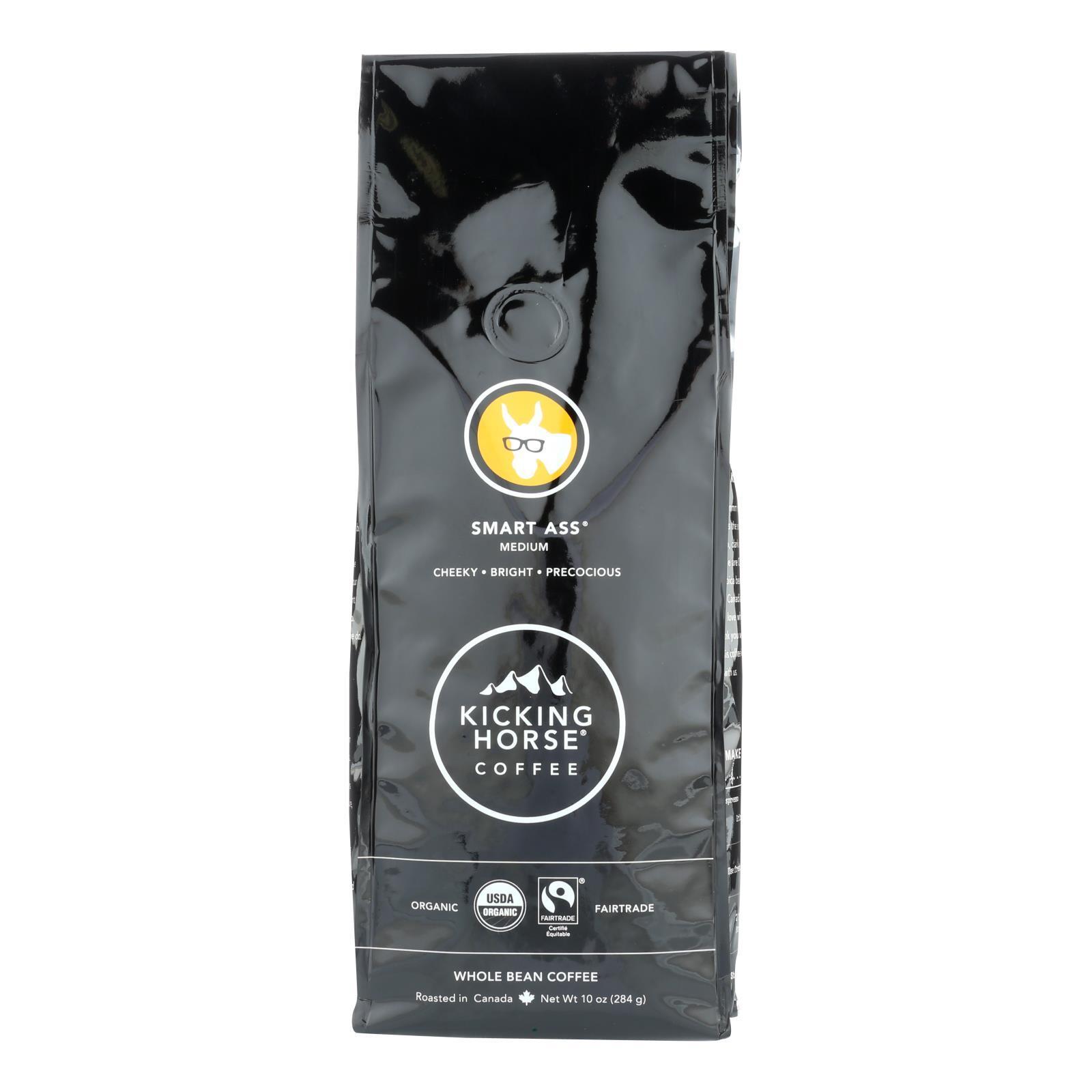 Kicking Horse Coffee - Whole Bean - Smart Ass - Case of 6 - 10 oz.