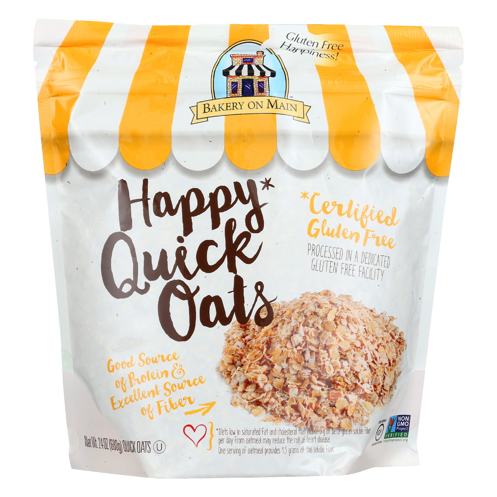 Bakery On Main Happy Quick Oats - Case of 4 - 24 oz.