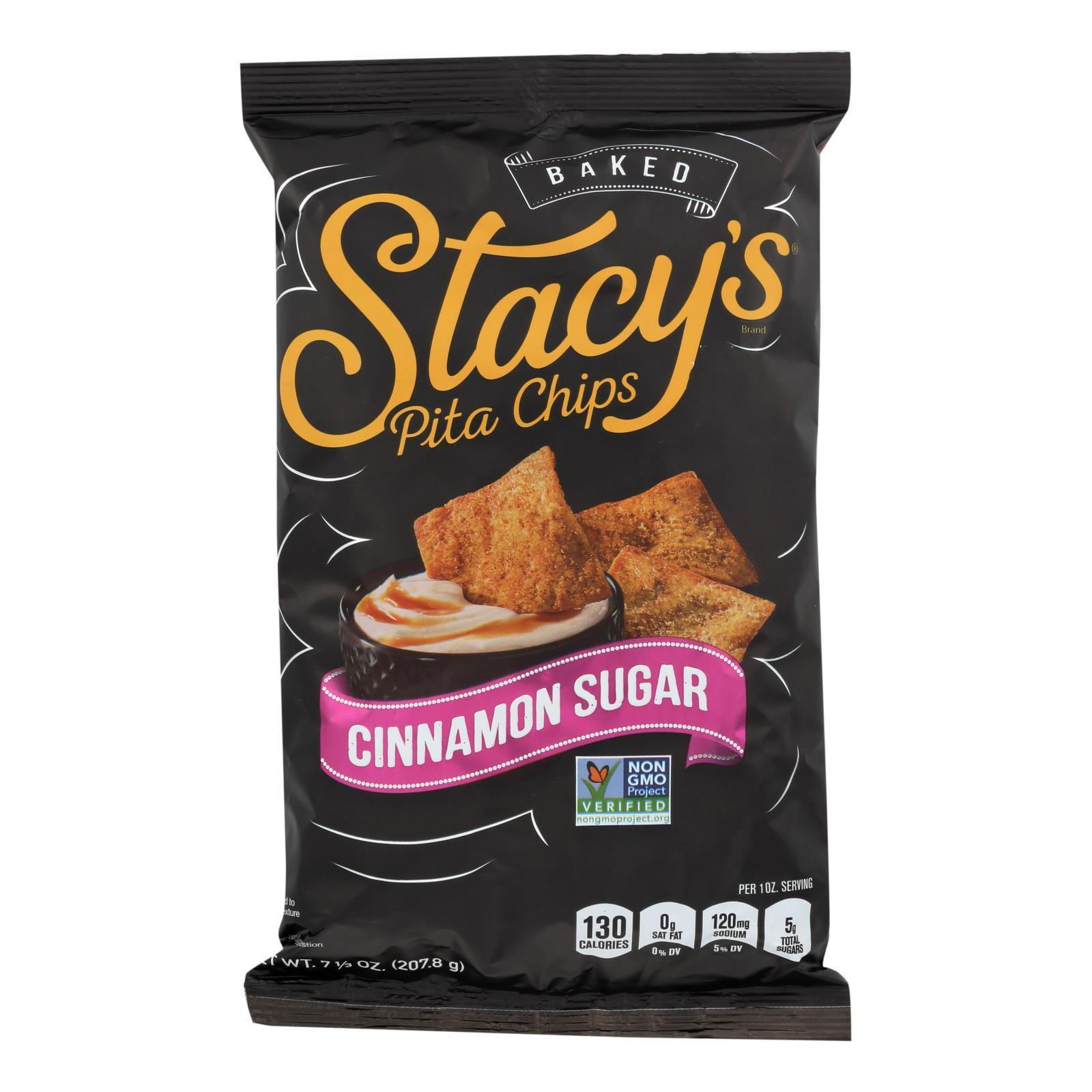 Stacy's Pita Chips Cinnamon Sugar Pita Chips - Cinnamon Sugar - Case of 12 - 7.33 oz.