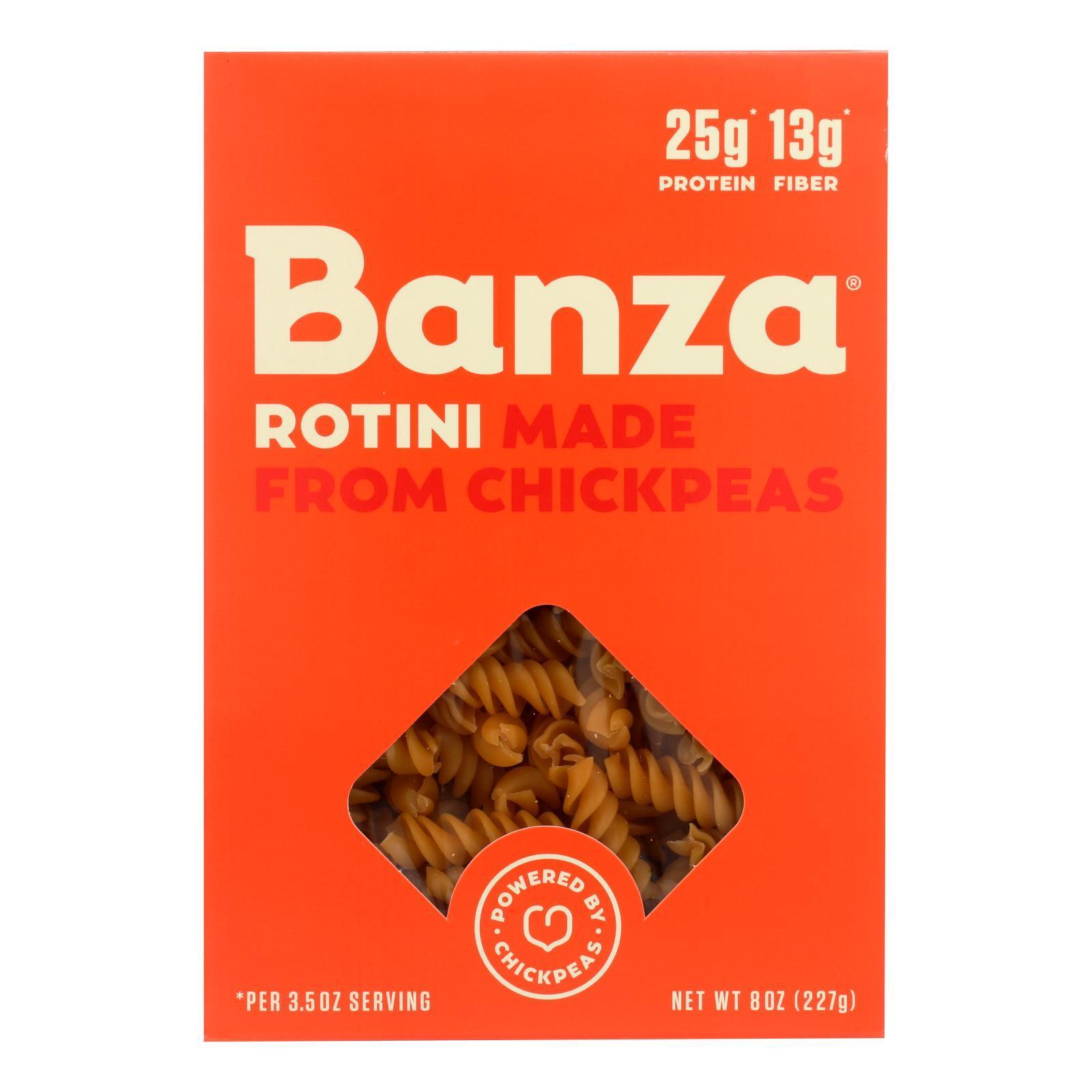 Banza Pasta Chickpea Rotini - Case of 6 - 8 oz.