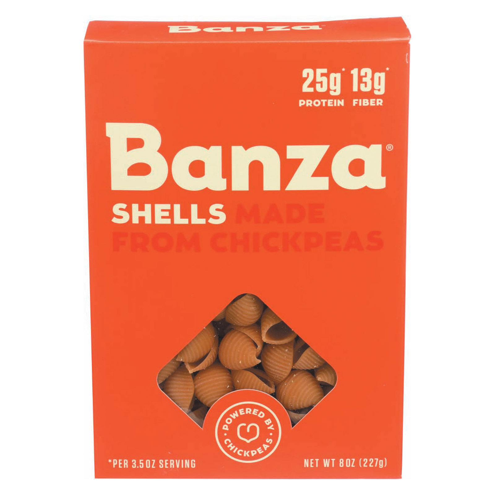 Banza Pasta Chickpea Shells - Case of 6 - 8 oz.