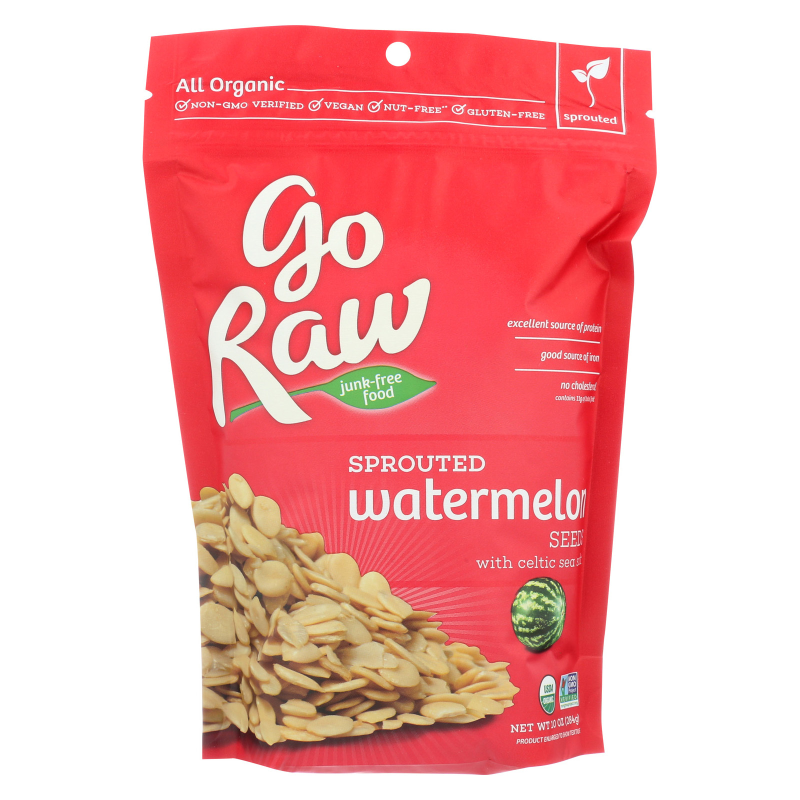 Go Raw Sprouted Seed - Watermelon - Case of 8 - 10 oz.