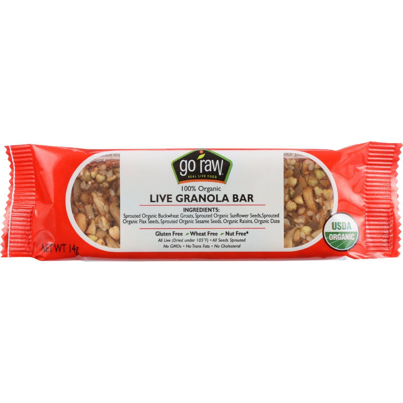 Go Raw Snack Bar - Organic - Sprouted - Raisin Crunch - .493 oz - case of 10