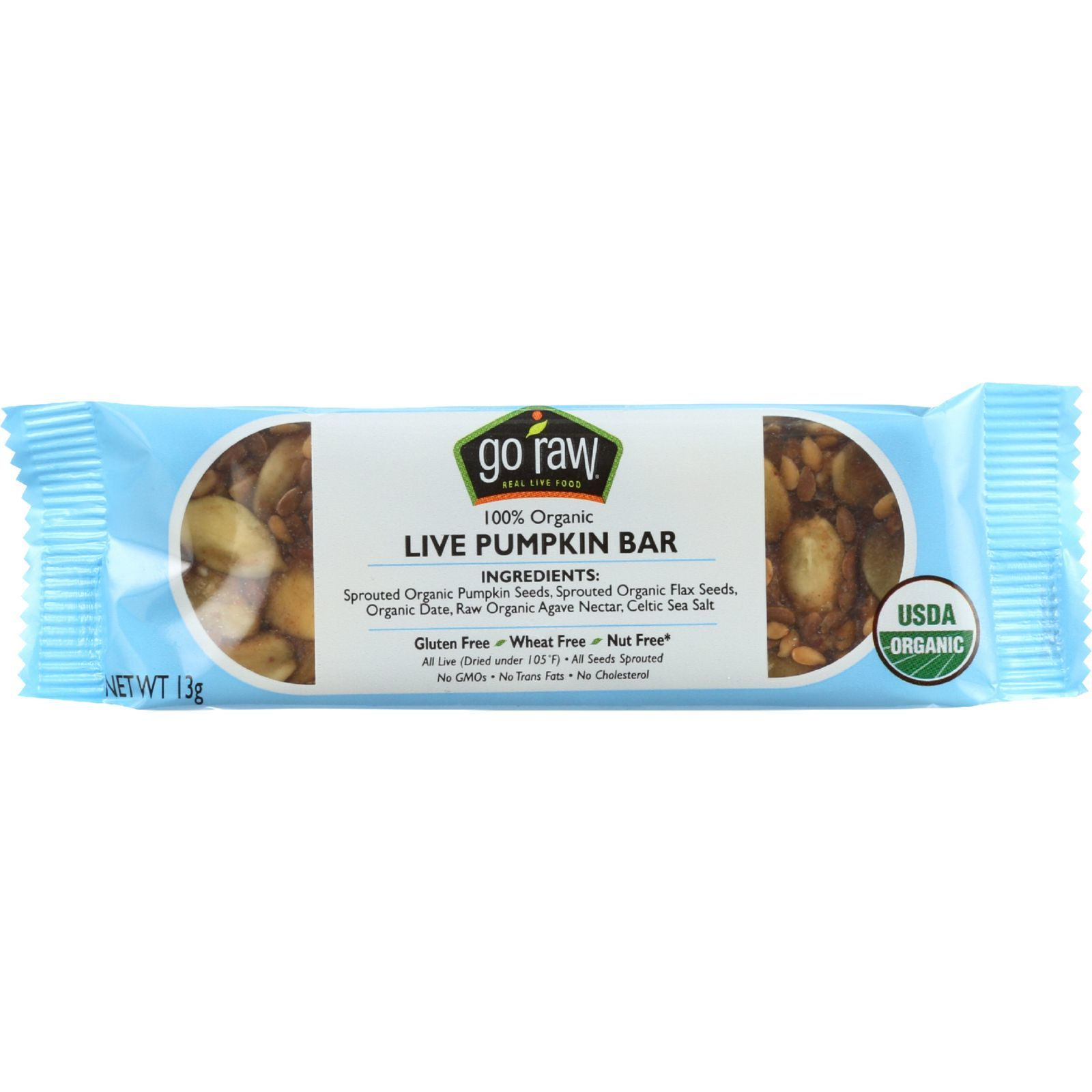 Go Raw Snack Bar - Organic - Sprouted - Pumpkin Seed  - .458 oz - case of 10