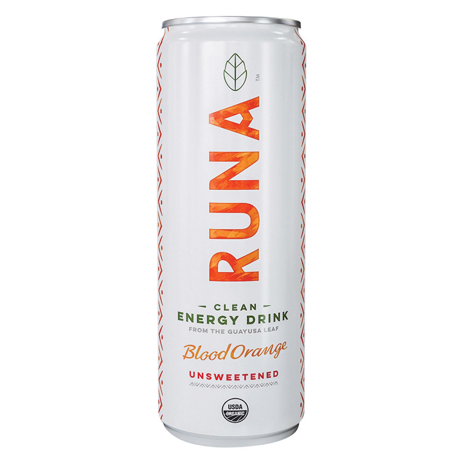 Runa Clean Energy Drink - Orange Passion - Case of 12 - 12 Fl oz.