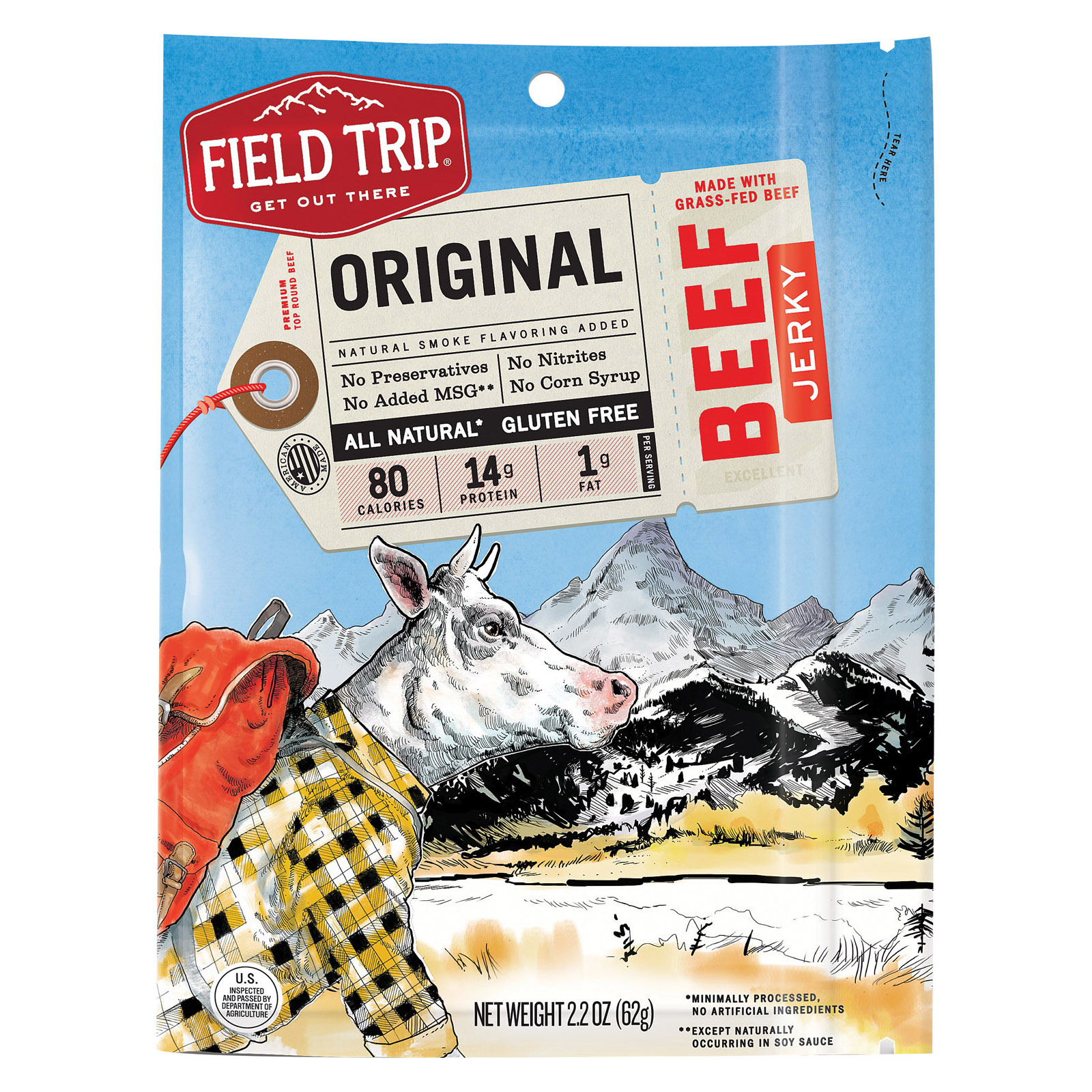 Field Trip Beef Jerky - Gluten Free - Case of 9 - 2.2 oz.