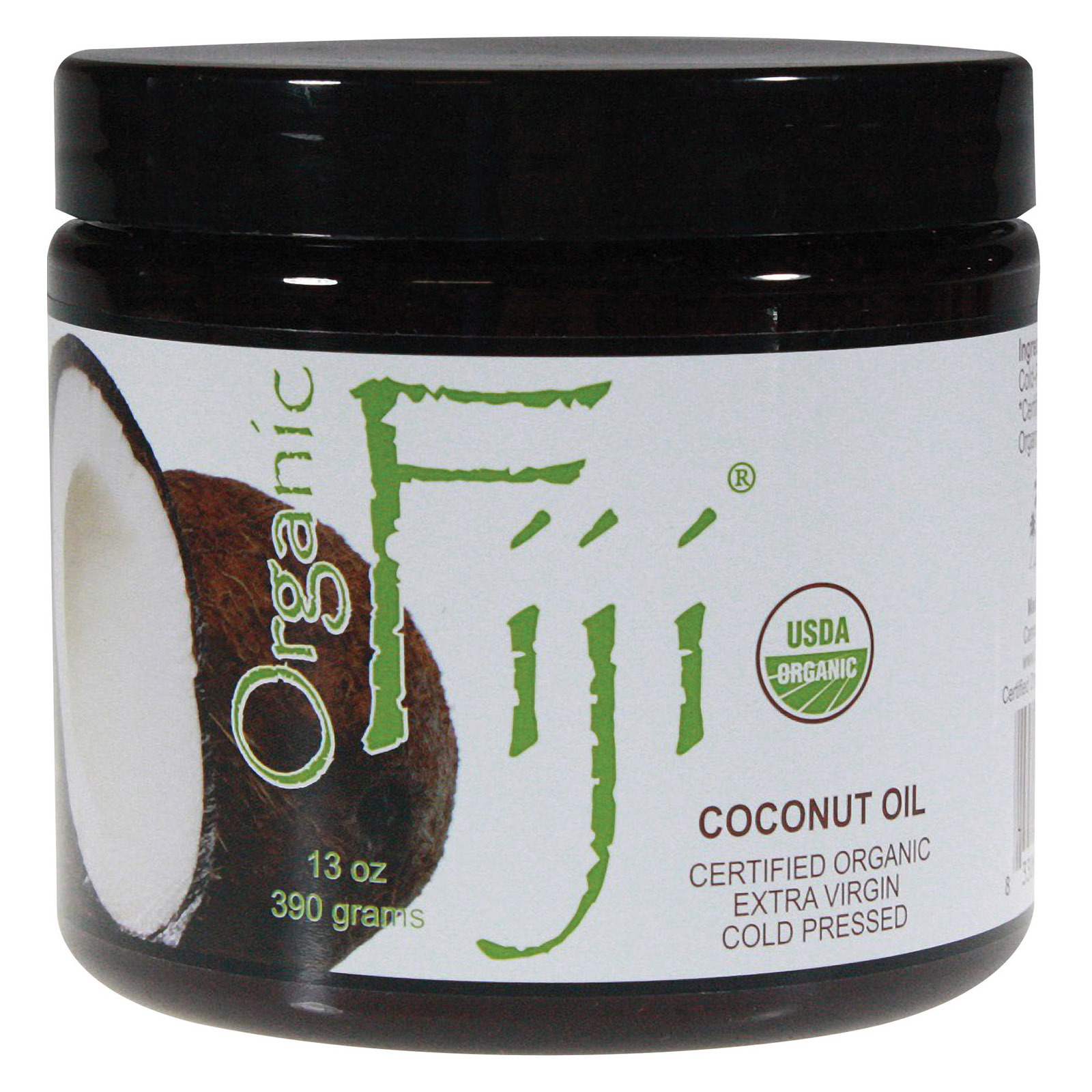 Organic Fiji Coconut Oil - Organic - Raw - Extra Virgin - 13 oz