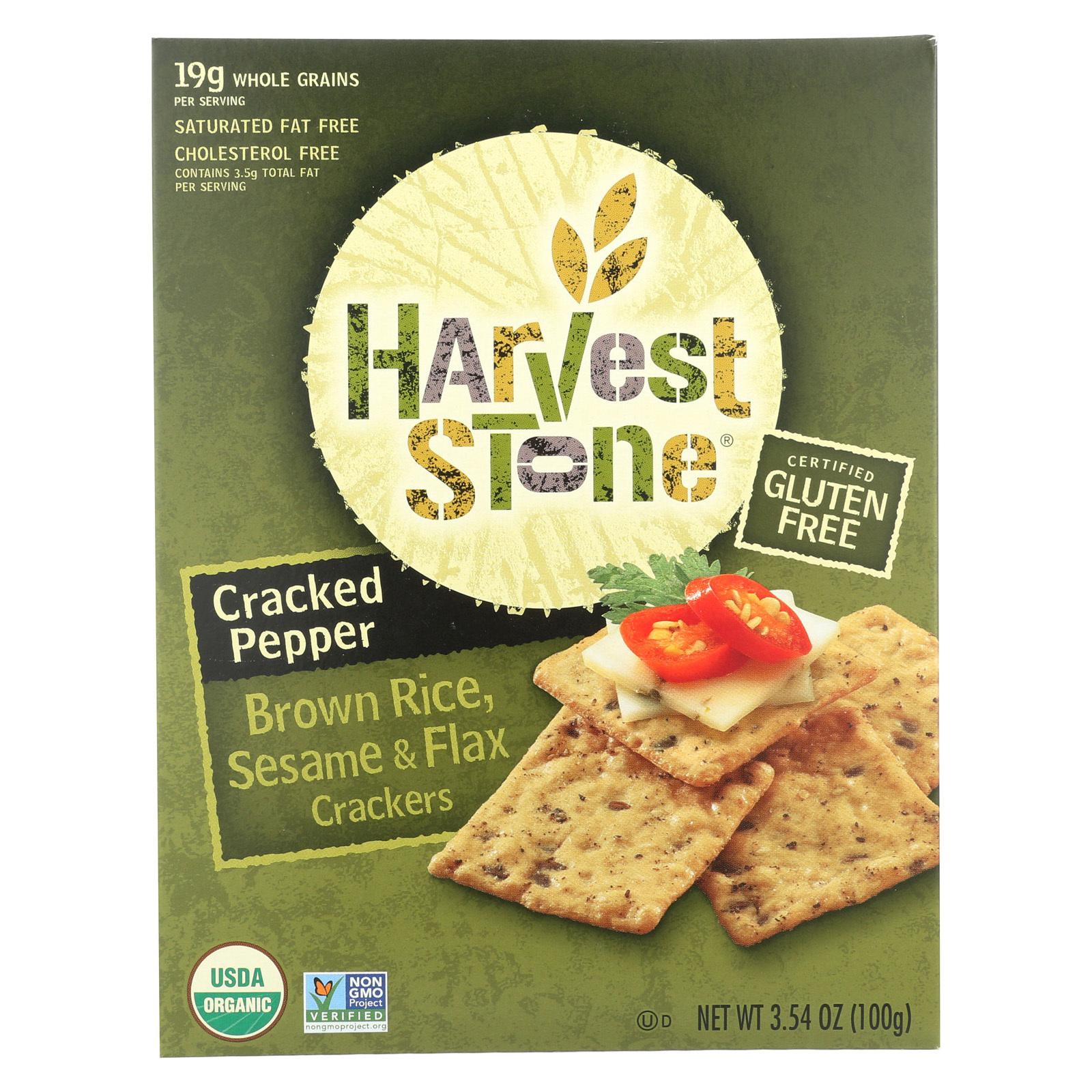 Harvest Stone Harvest Stone Organic Brown Rice and Sesame - Brown Rice and Sesame - Case of 6 - 3.54 oz.