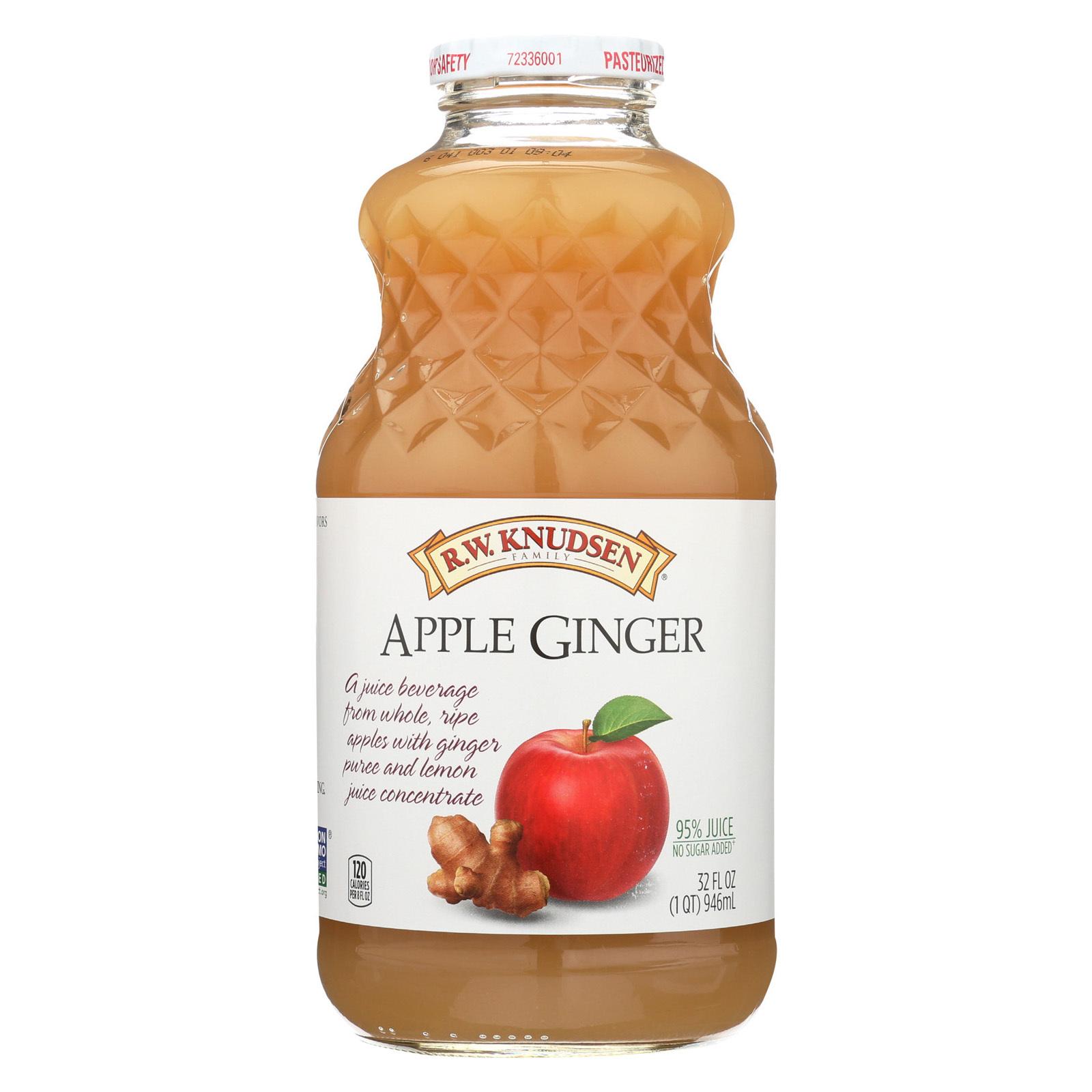 R.W. Knudsen Juice - Apple Ginger - Case of 12 - 32 oz