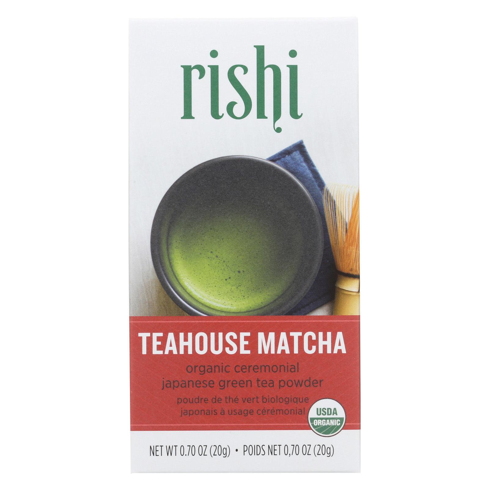 Rishi Tea - Teahouse Matcha Powder - Case of 6 - .70 oz