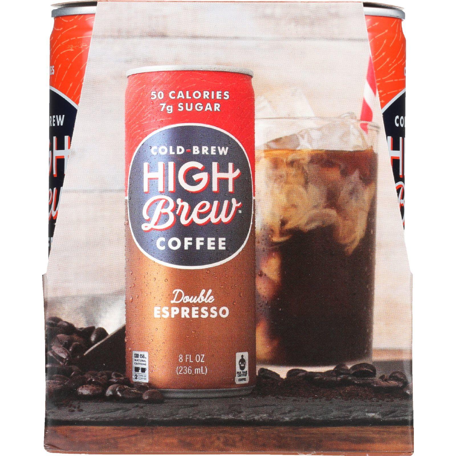 High Brew Coffee Coffee - Ready to Drink - Double Espresso - 4/8 oz - case of 6