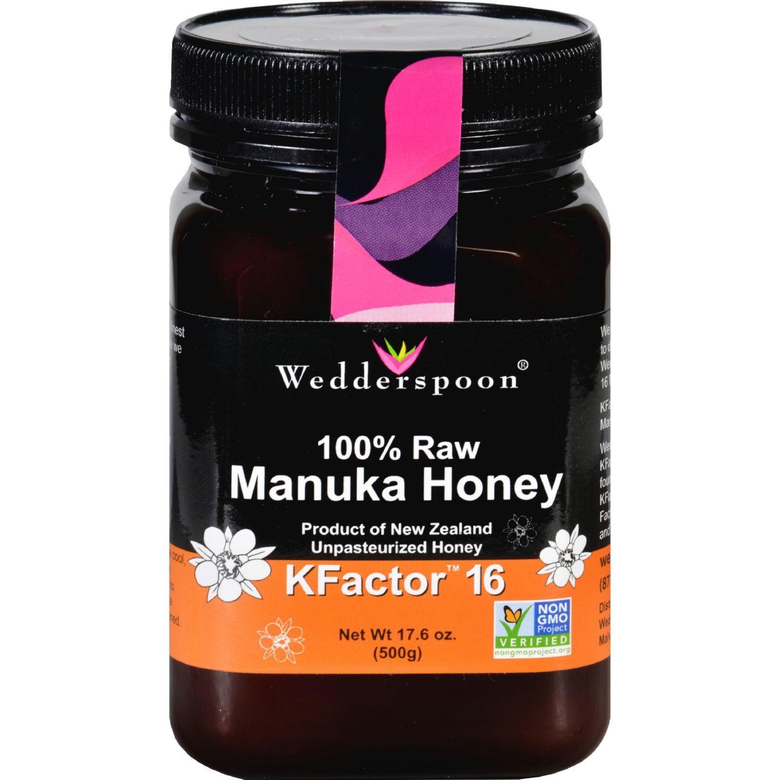 Wedderspoon Honey - Manuka - 100 Percent Raw - KFactor 16 - 17.6 oz