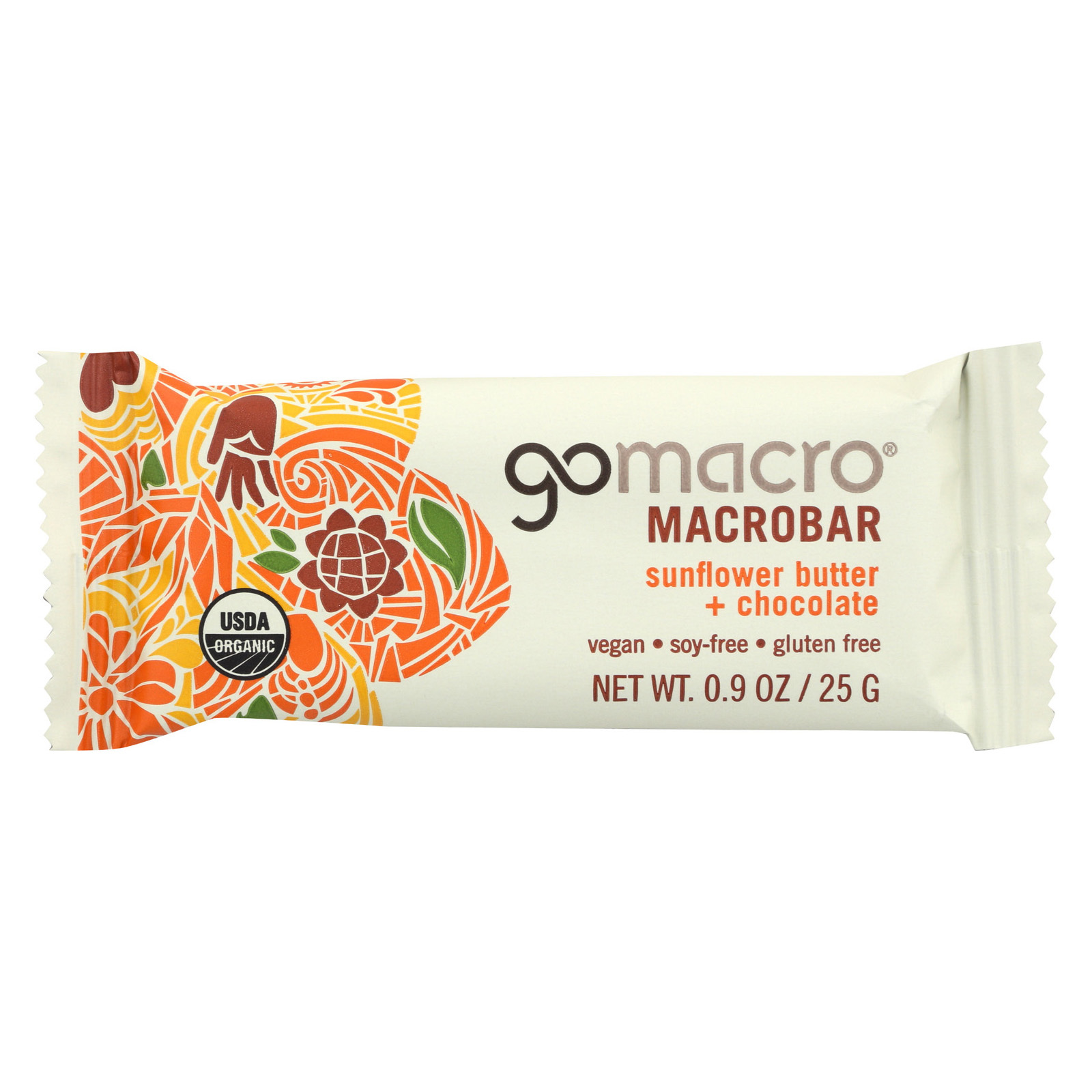 Gomacro Bars - Organic - Gluten Free - Sunflower Butter - Ch - Case of 24 - .9 oz