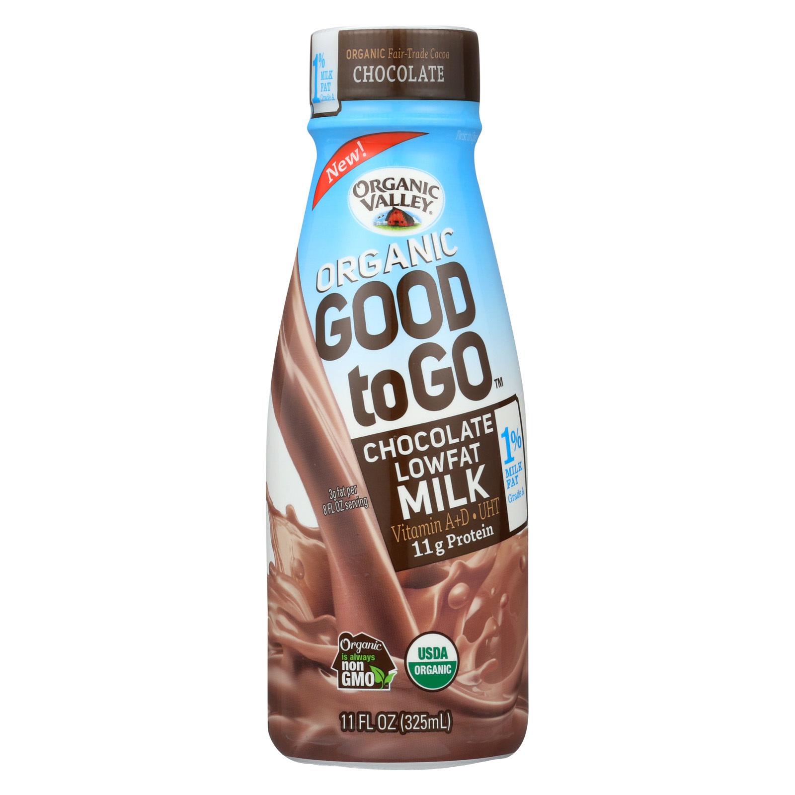 Organic Valley Organic Milk - Good To Go Chocolate Low Fat - Case of 12 - 11 fl oz