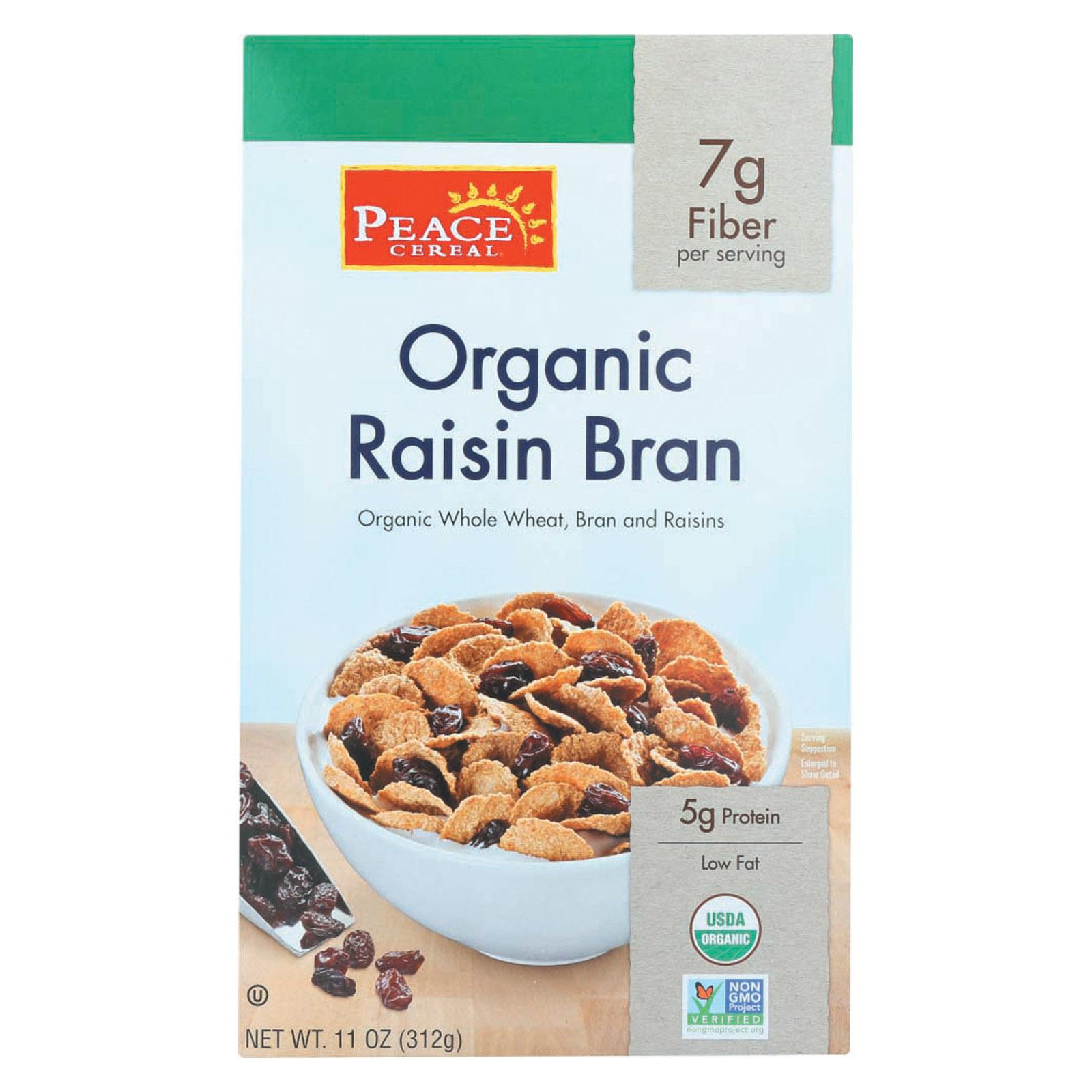 Peace Cereals Organic Raisin Bran - Case of 6 - 11 oz.