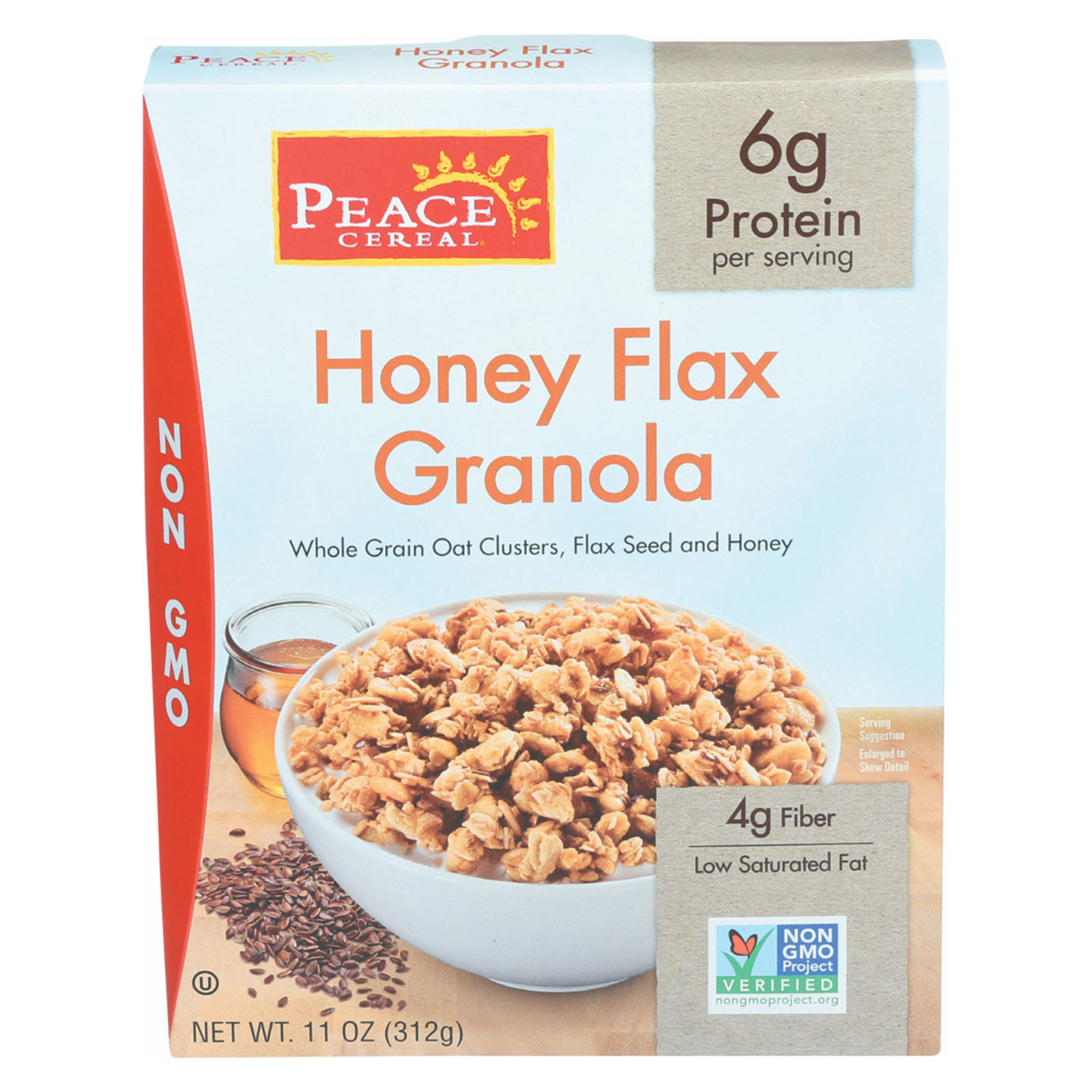 Peace Cereals Granola - Honey Flax - Case of 6 - 11 oz.