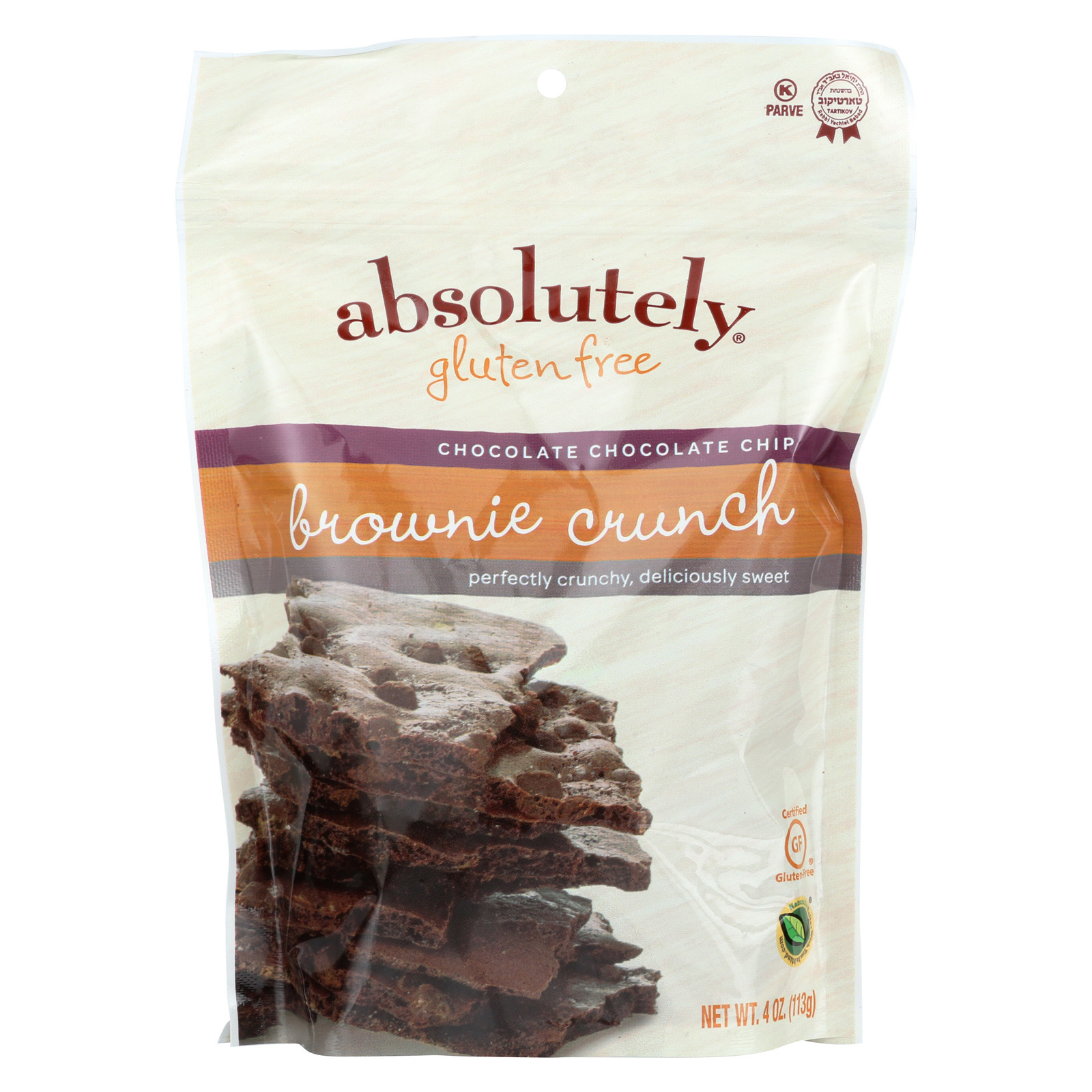 Absolutely Gluten Free Brownie Crunch - Chocolate Chip - Case of 6 - 4 oz.
