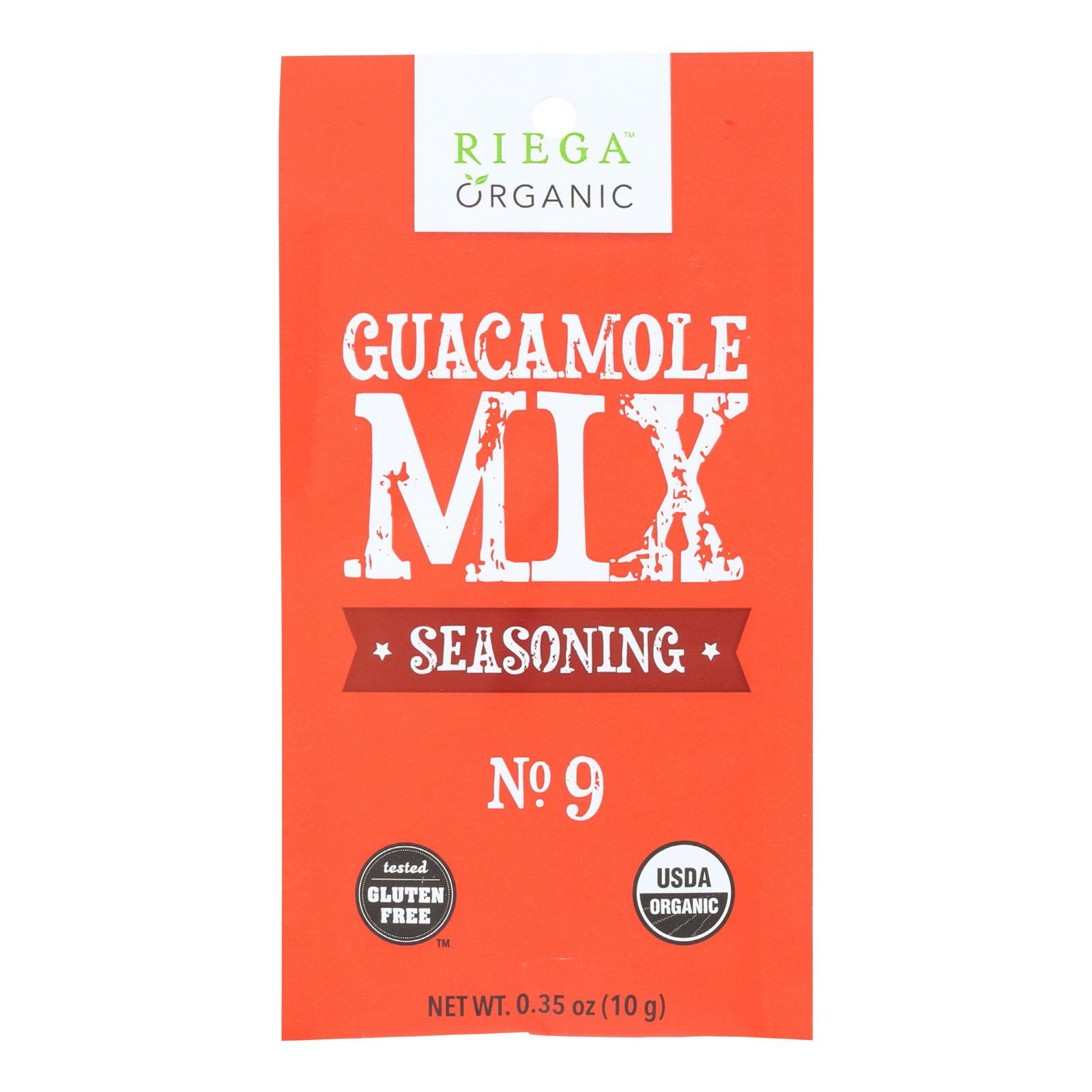 Riega Foods Seasoning Guacamole Mix - Case of 8 - 0.35 oz.