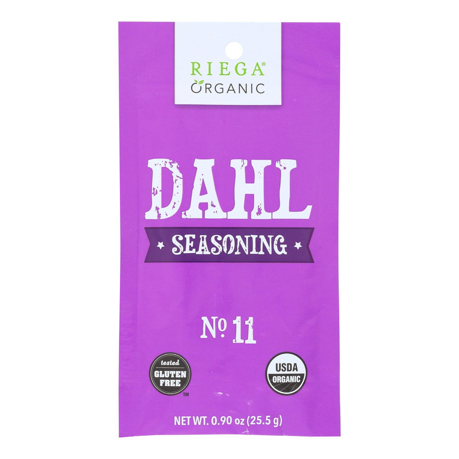 Riega Foods Organic Dahl Seasoning  - Case of 8 - 0.9 oz.