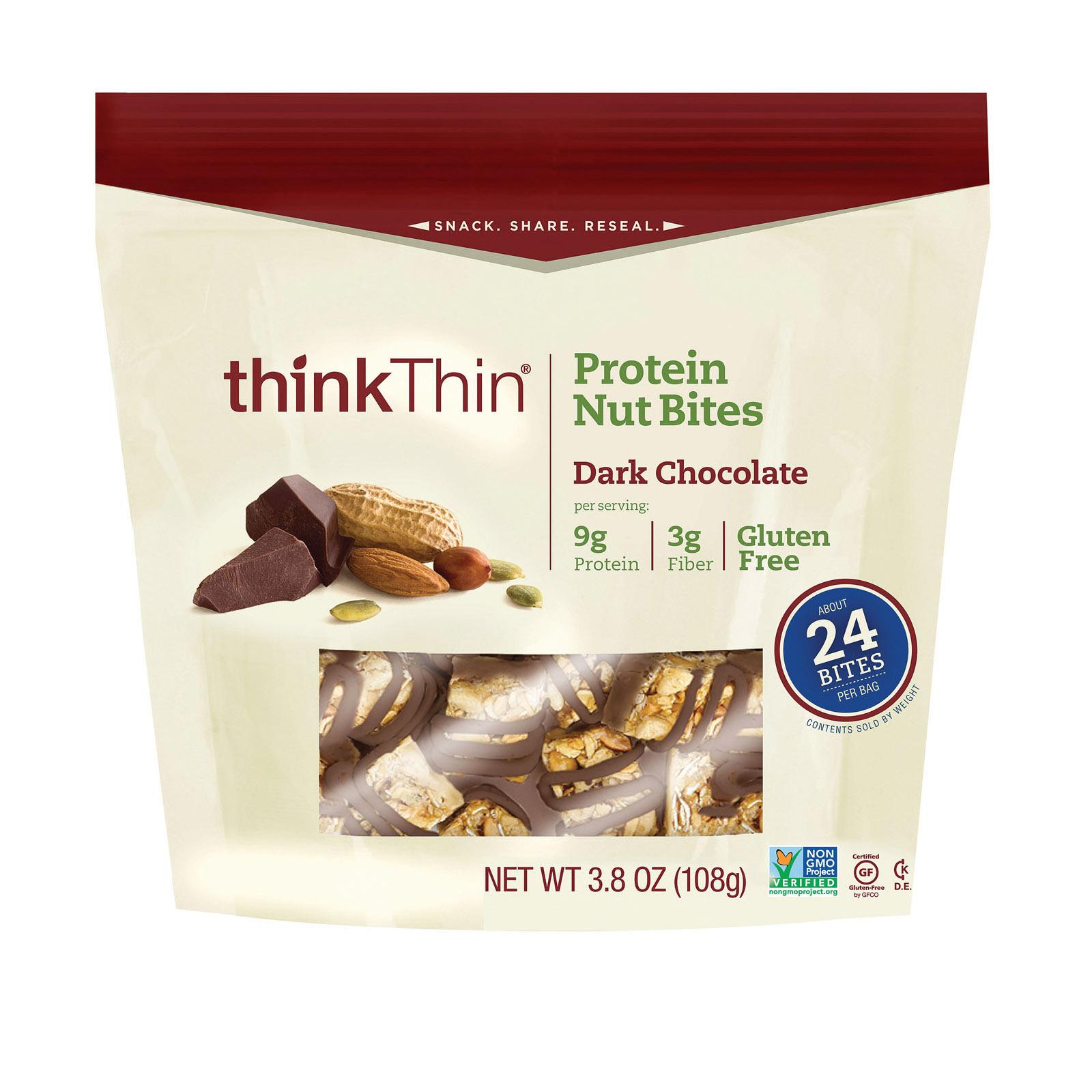 Think Products Protein Bites - Dark Chocolate - Case of 6 - 3.8 oz.