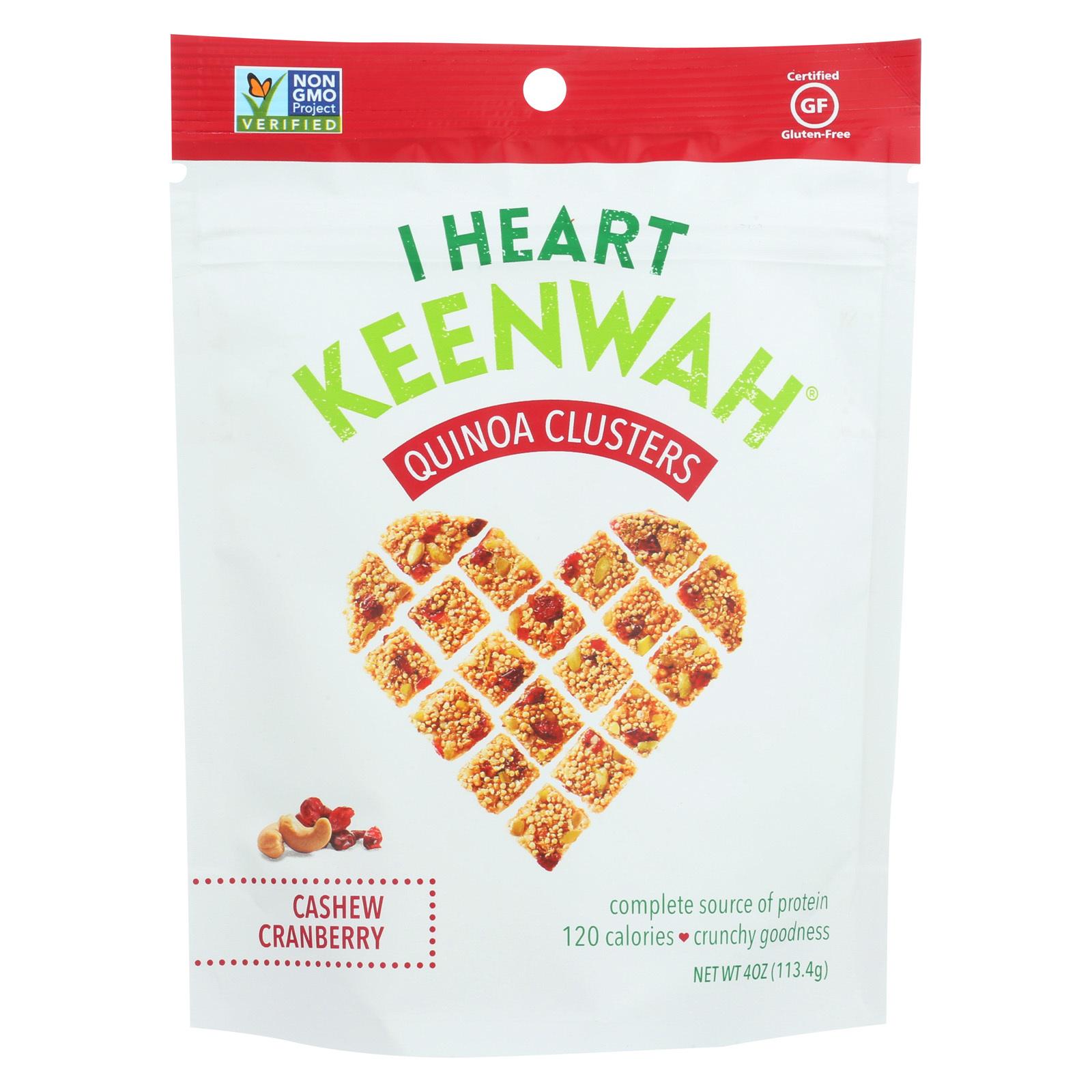 I Heart Keenwah Quinoa Cluster - Cashew Berry - Case of 6 - 4 oz.
