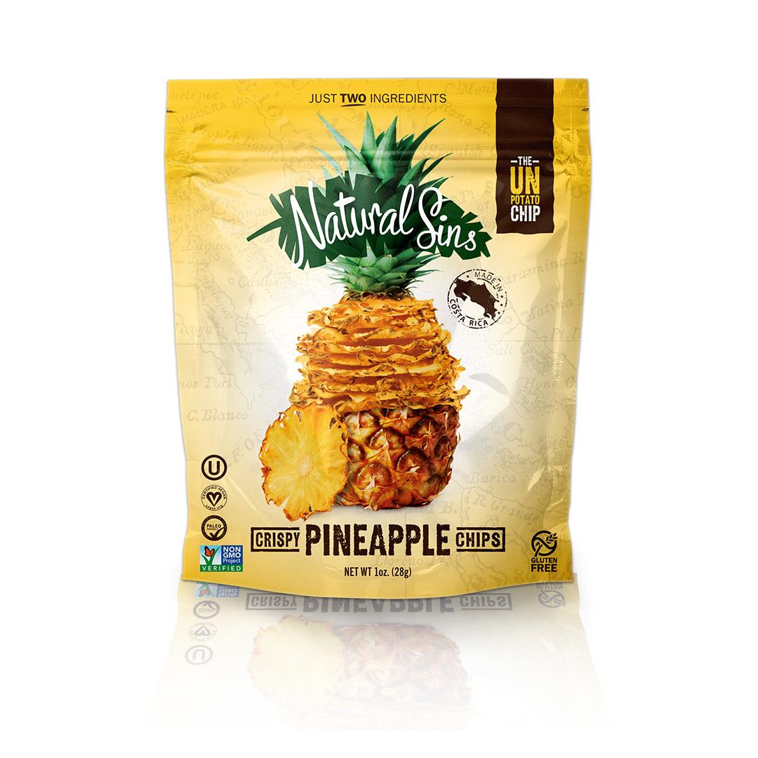 Natural Sins Crispy Mango Chips - Case of 6 - 1 oz.
