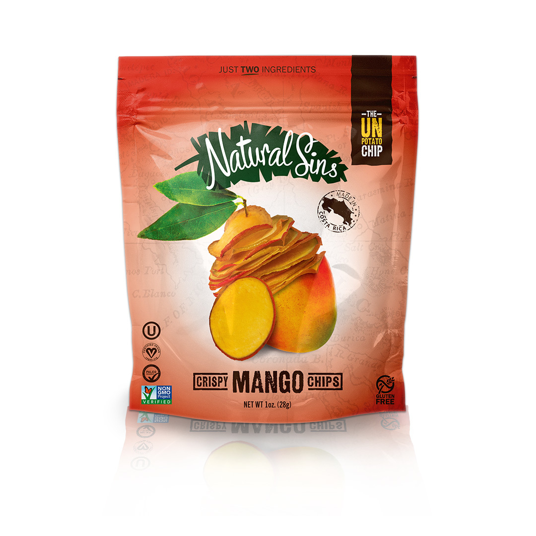 Natural Sins Crispy Pineapple Chips - Case of 6 - 1 oz.
